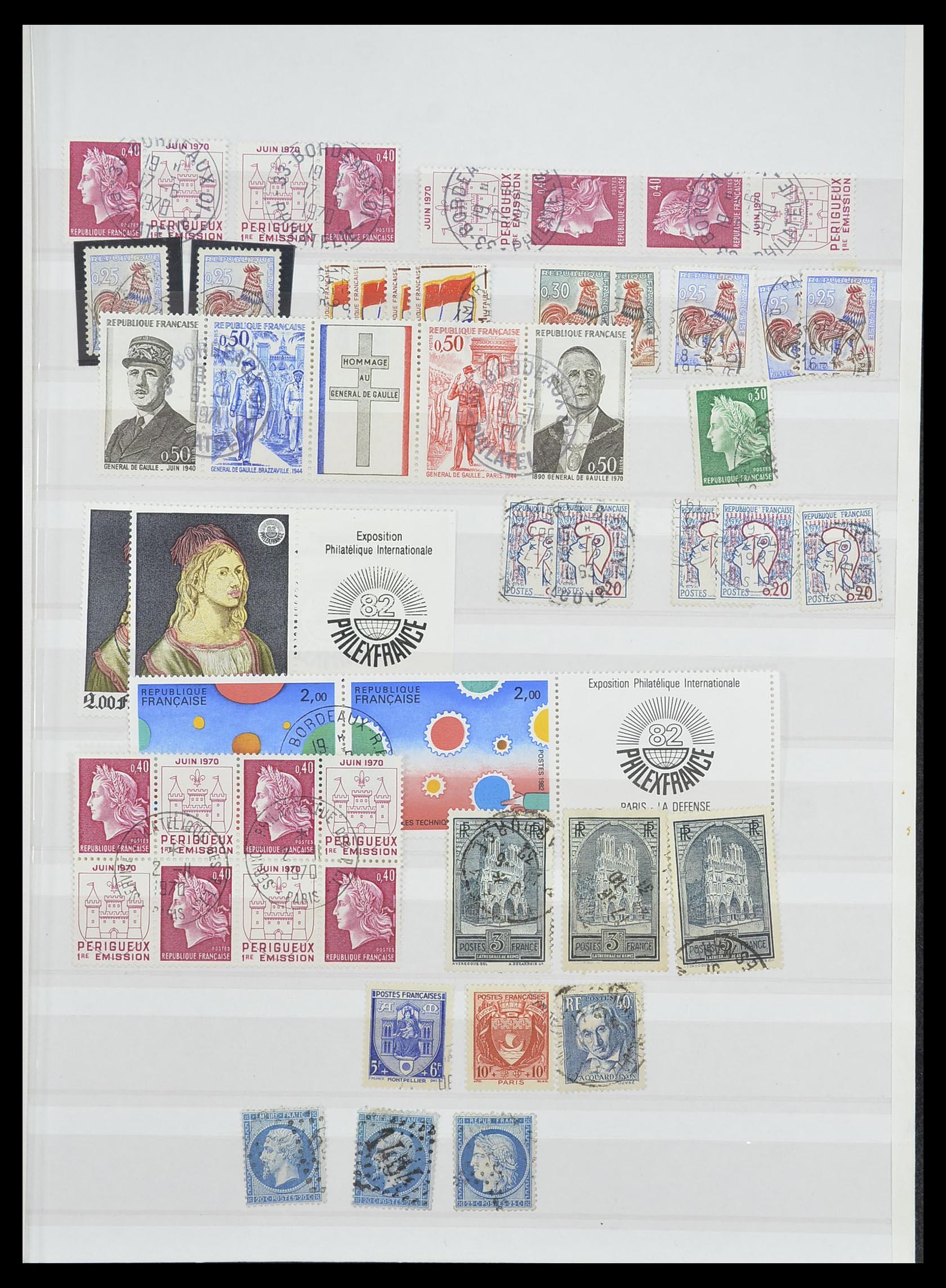 33819 001 - Postzegelverzameling 33819 Frankrijk 1849-1988.