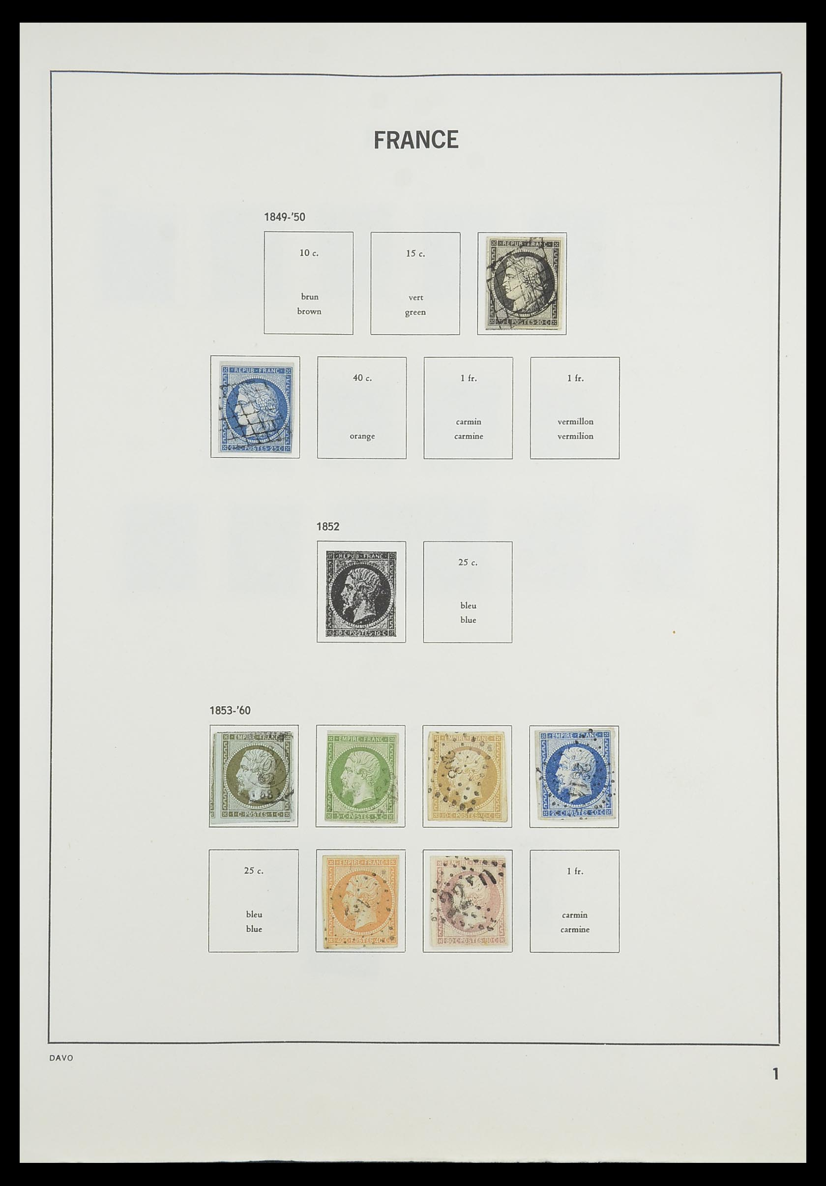 33819 003 - Postzegelverzameling 33819 Frankrijk 1849-1988.