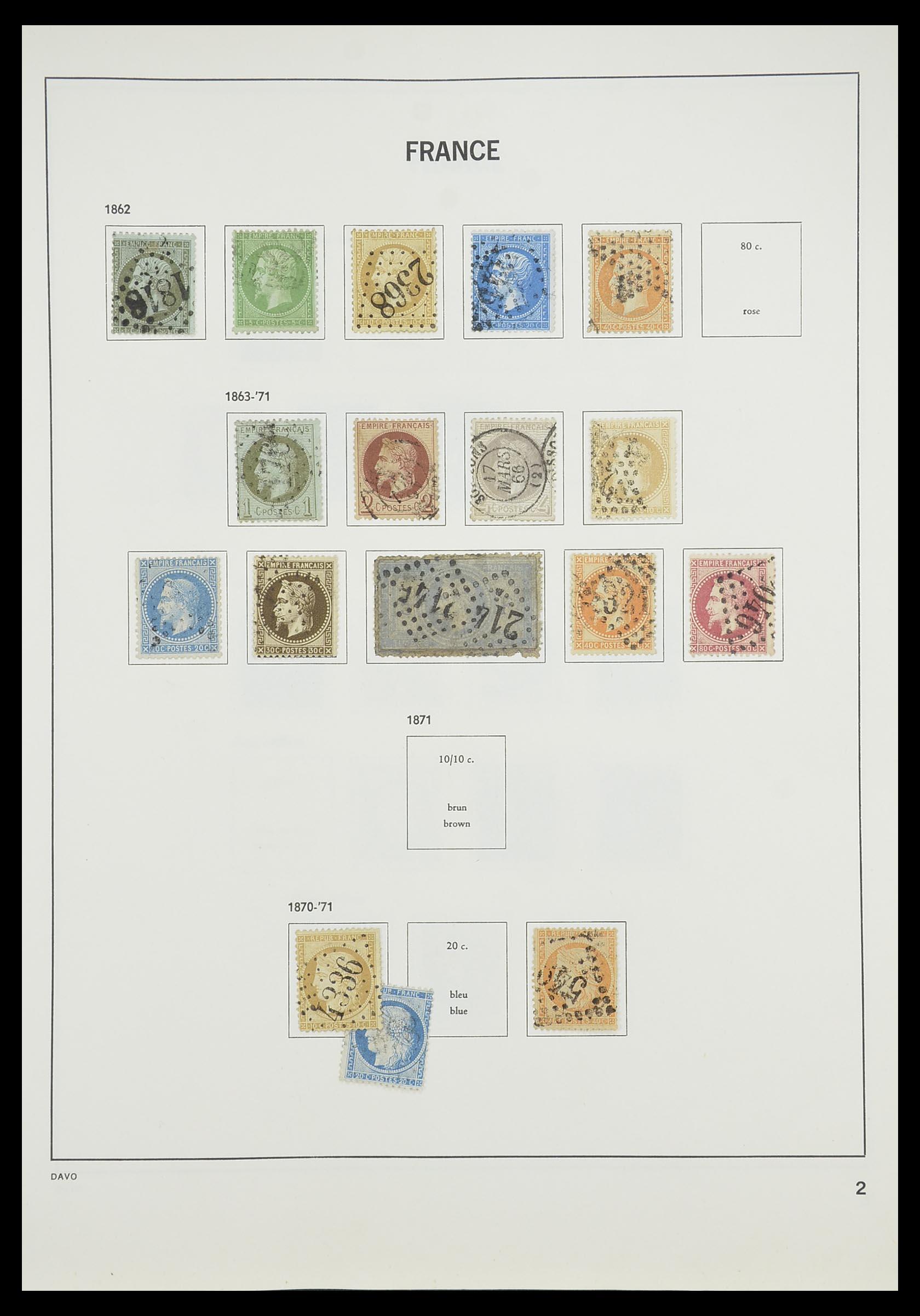 33819 004 - Postzegelverzameling 33819 Frankrijk 1849-1988.