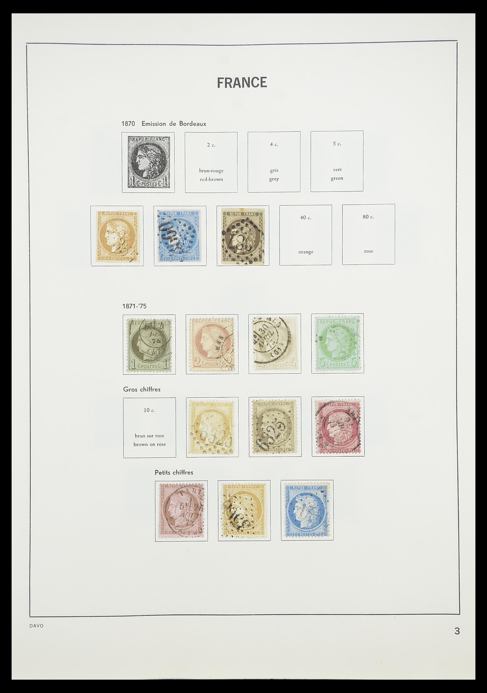 33819 005 - Postzegelverzameling 33819 Frankrijk 1849-1988.