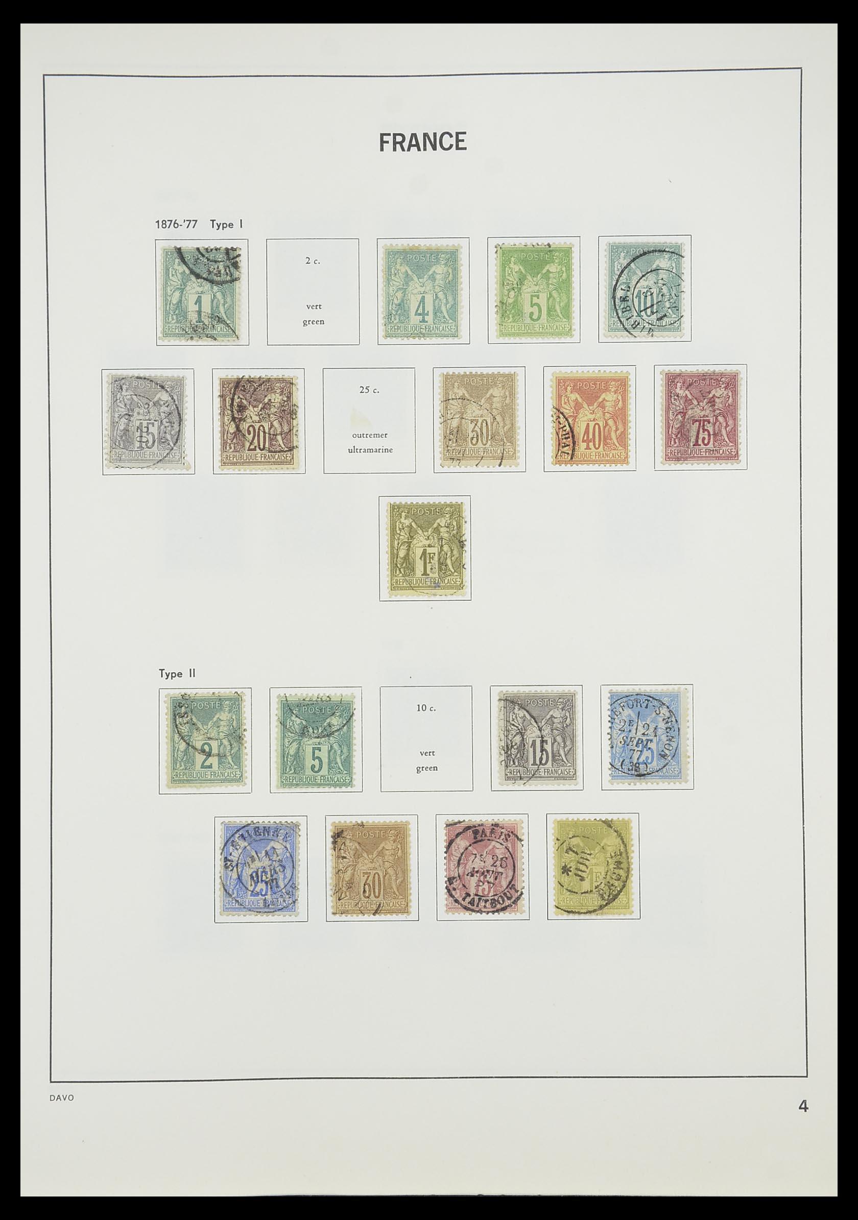 33819 006 - Postzegelverzameling 33819 Frankrijk 1849-1988.