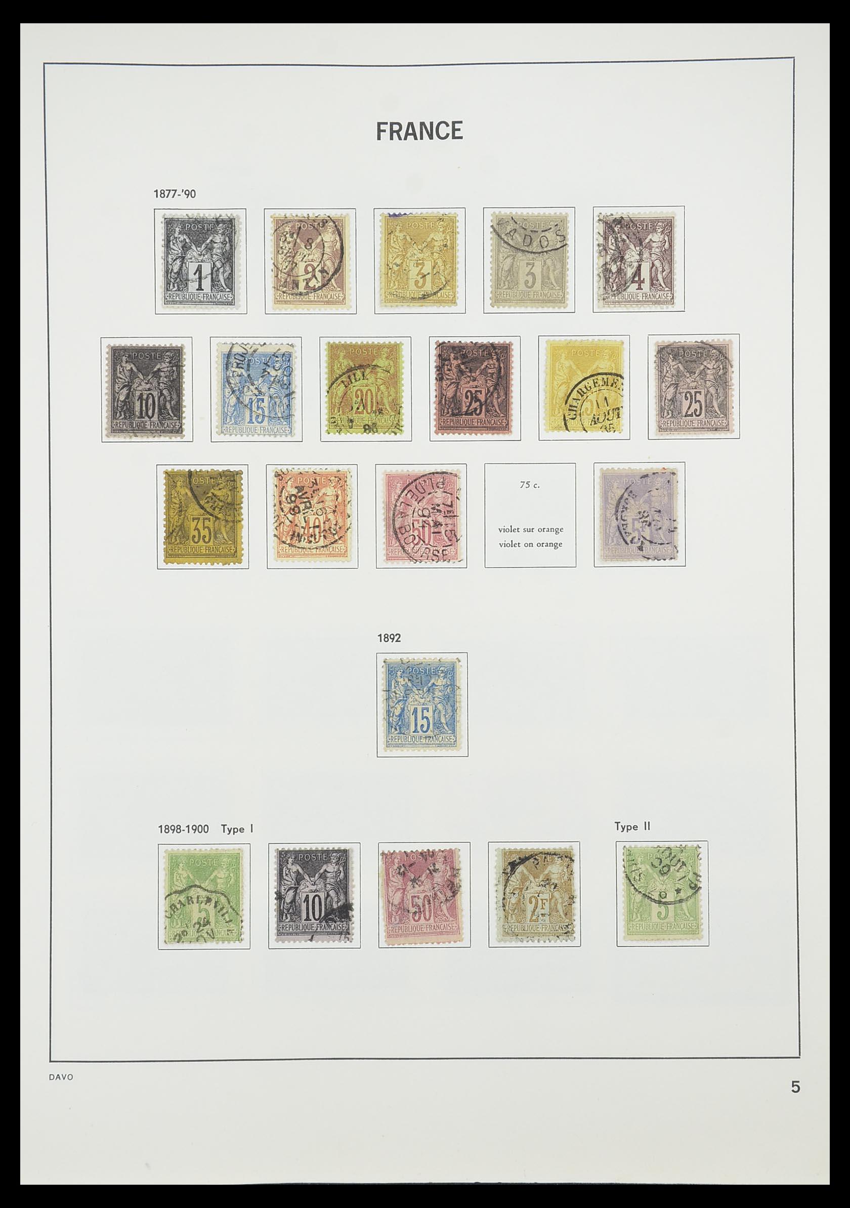 33819 007 - Postzegelverzameling 33819 Frankrijk 1849-1988.