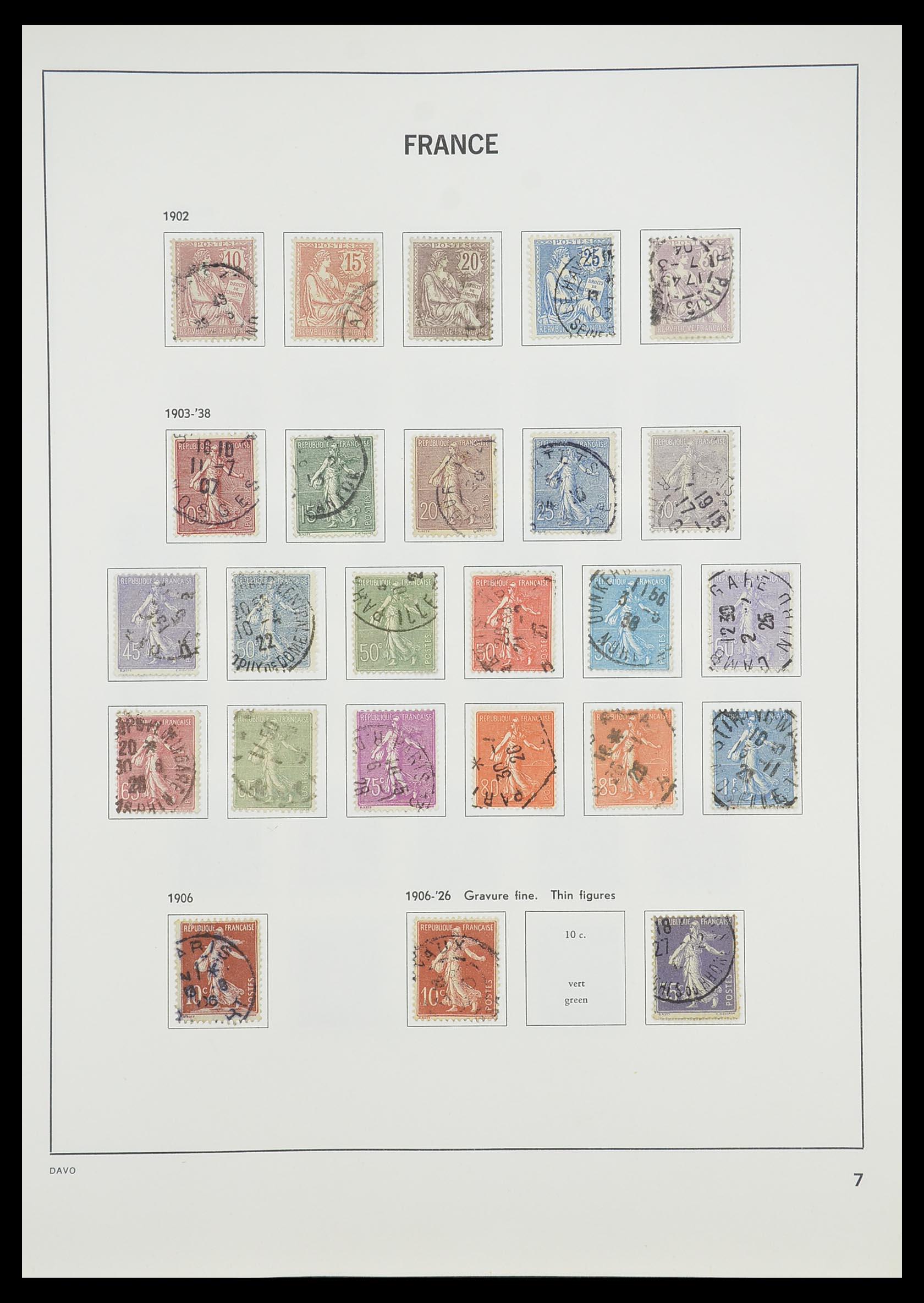 33819 009 - Postzegelverzameling 33819 Frankrijk 1849-1988.