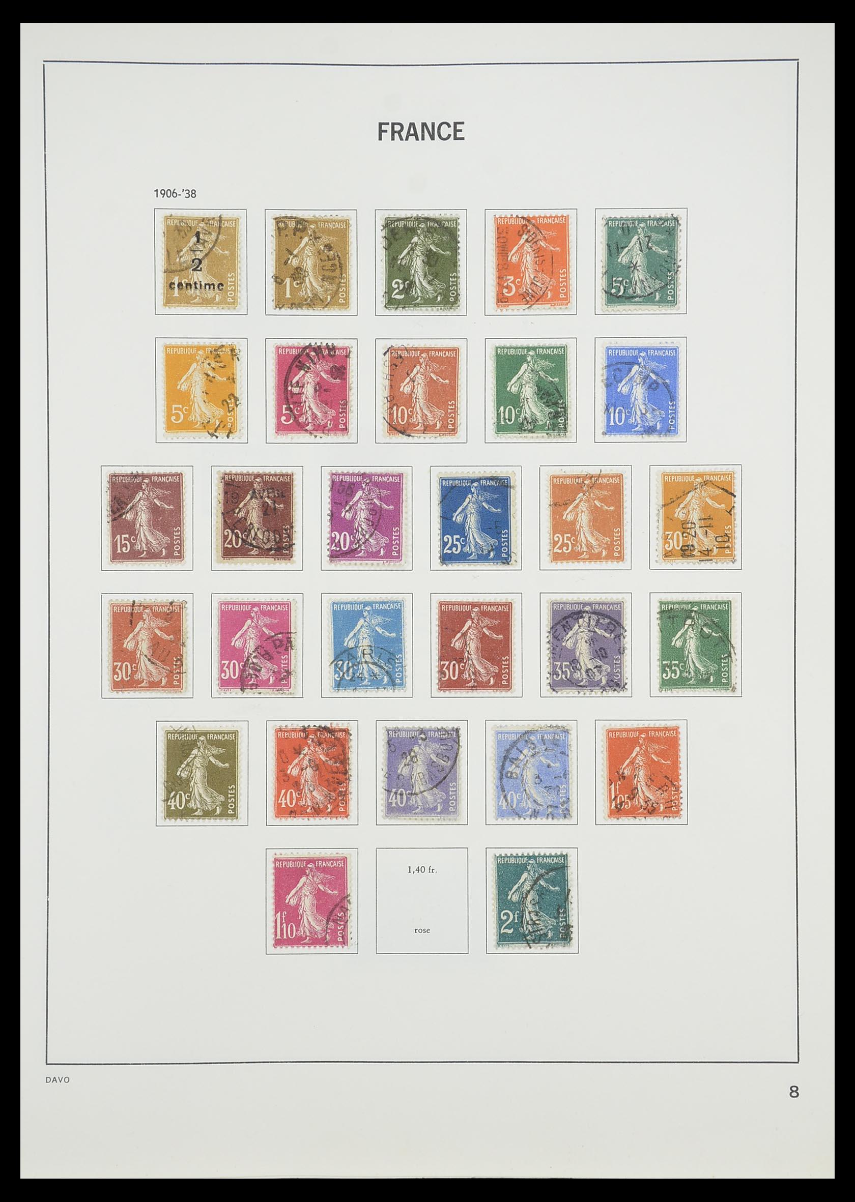 33819 010 - Postzegelverzameling 33819 Frankrijk 1849-1988.