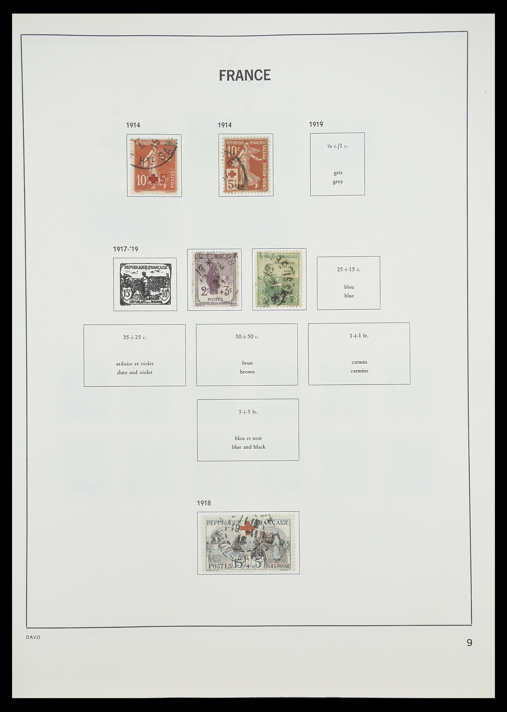 33819 011 - Postzegelverzameling 33819 Frankrijk 1849-1988.