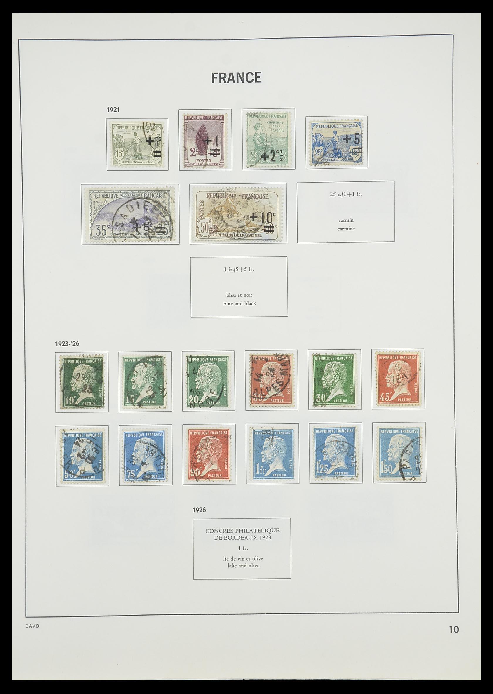 33819 012 - Postzegelverzameling 33819 Frankrijk 1849-1988.