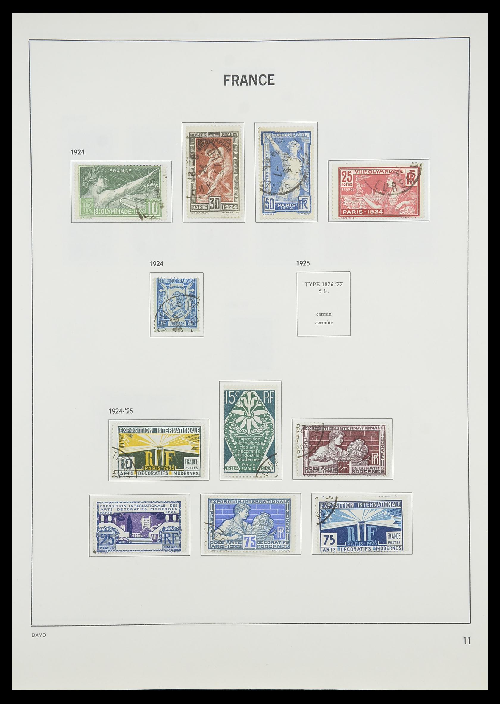 33819 013 - Postzegelverzameling 33819 Frankrijk 1849-1988.