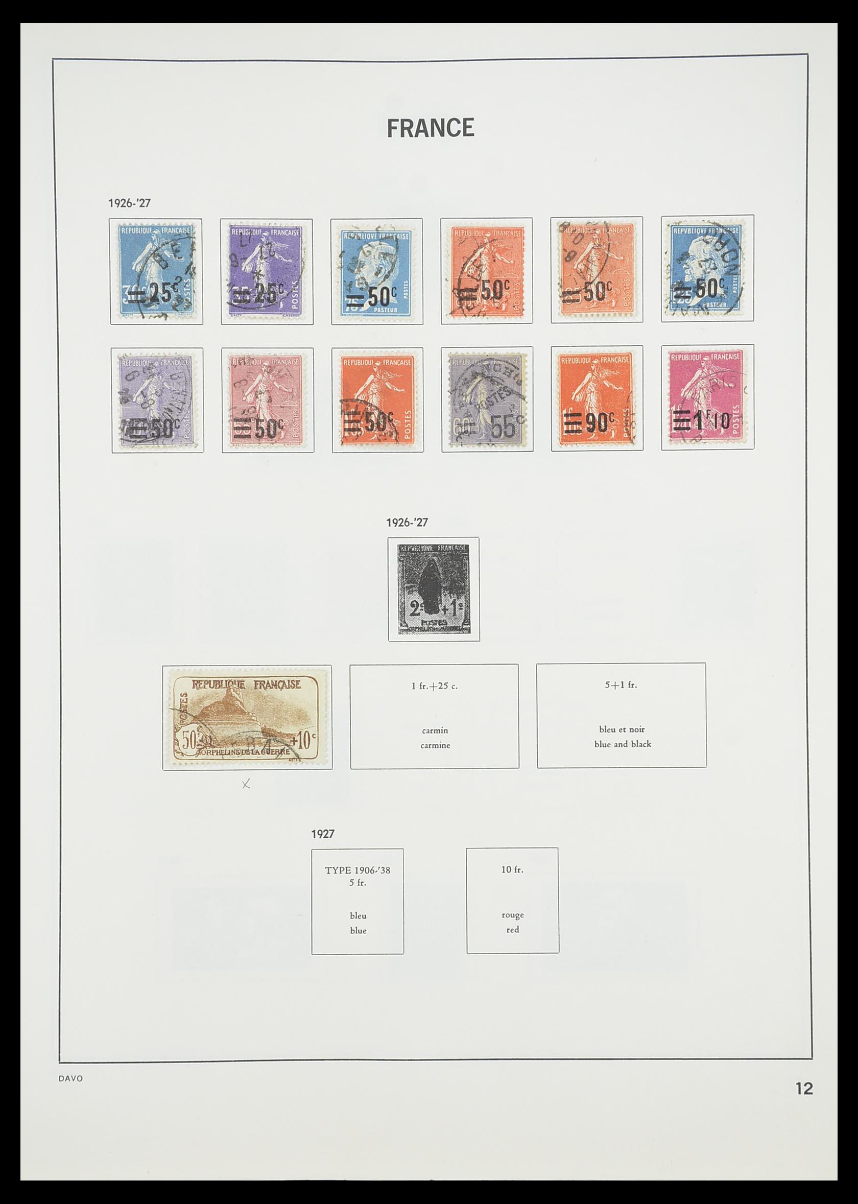33819 014 - Postzegelverzameling 33819 Frankrijk 1849-1988.