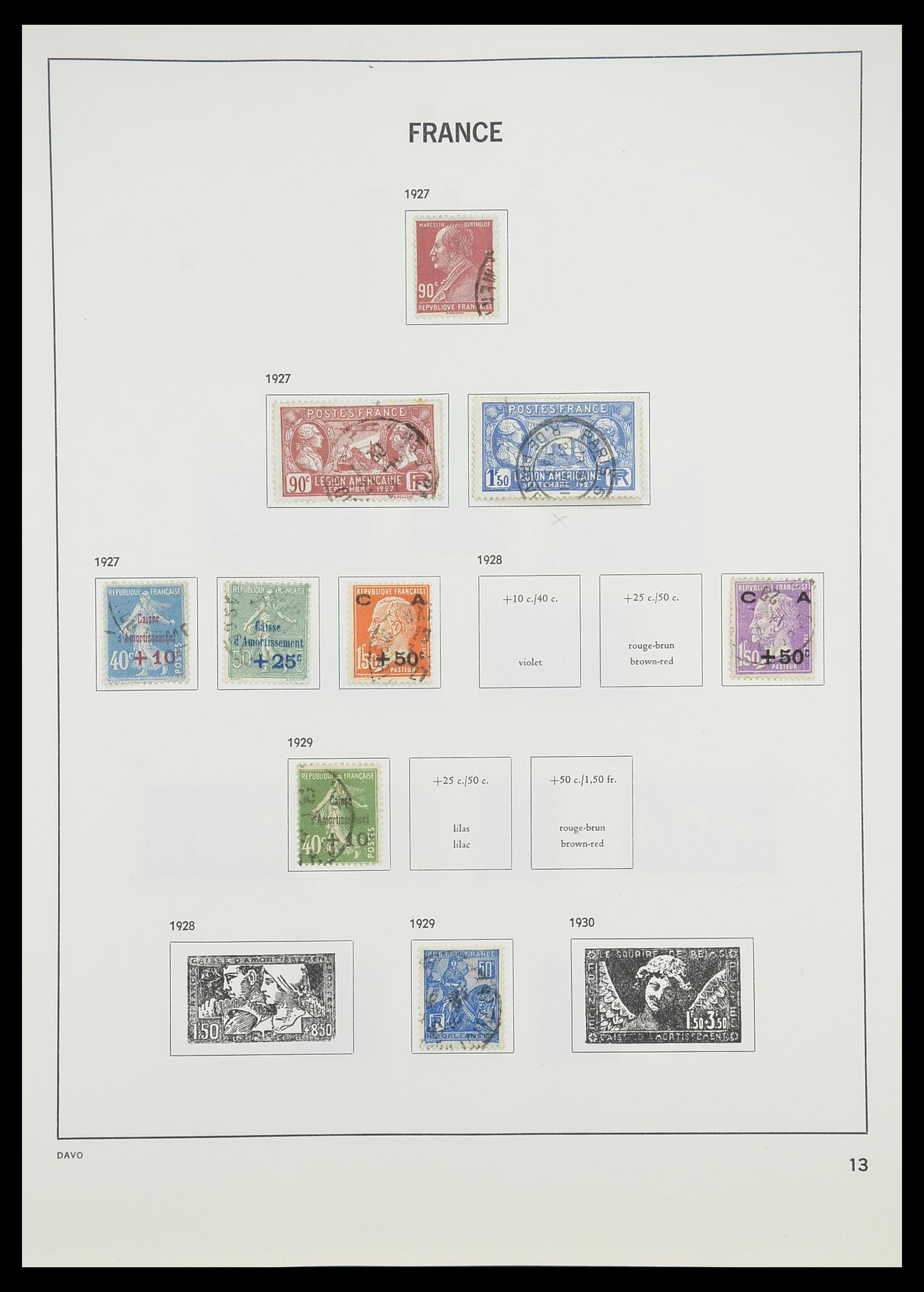 33819 015 - Postzegelverzameling 33819 Frankrijk 1849-1988.