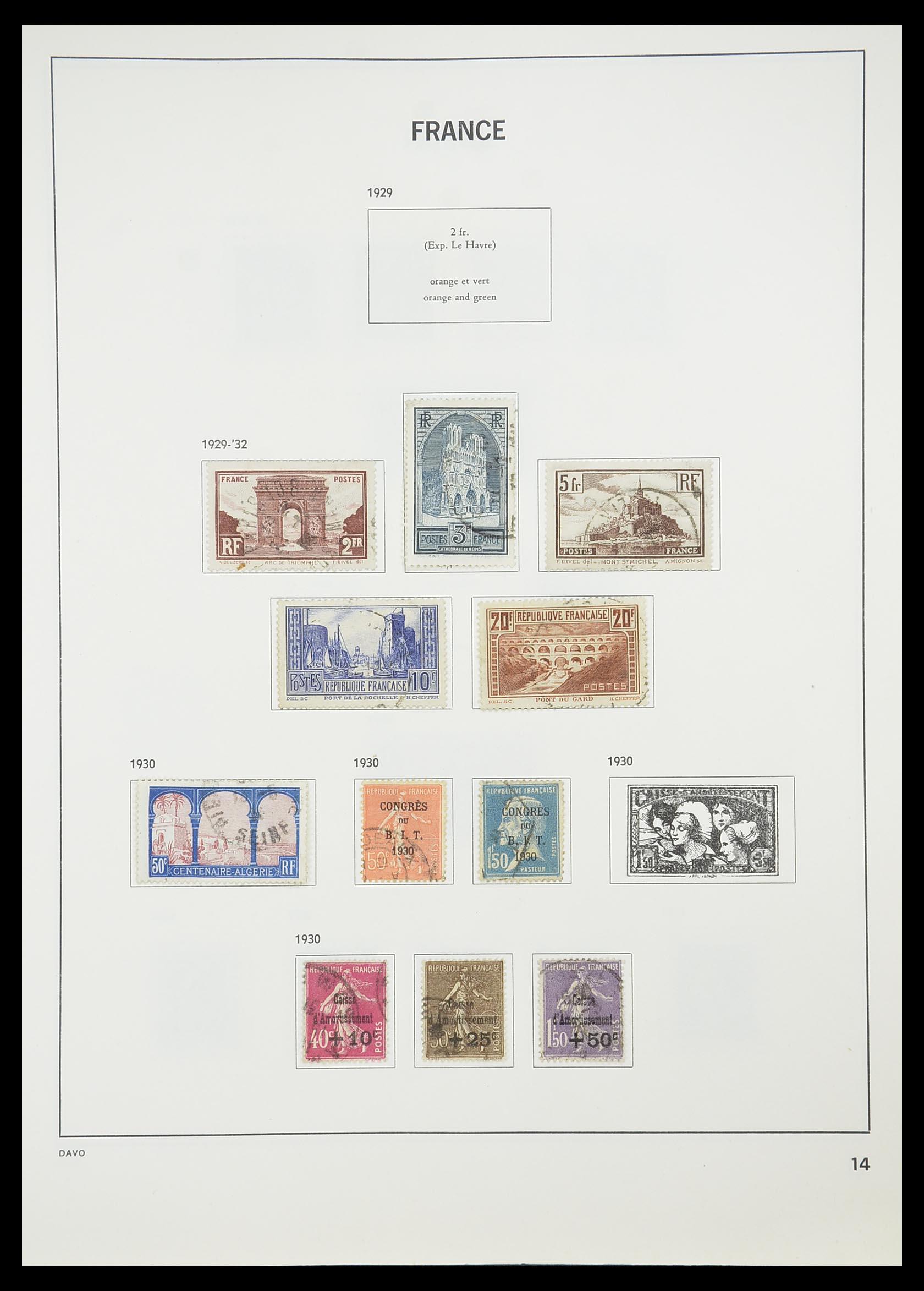 33819 016 - Postzegelverzameling 33819 Frankrijk 1849-1988.