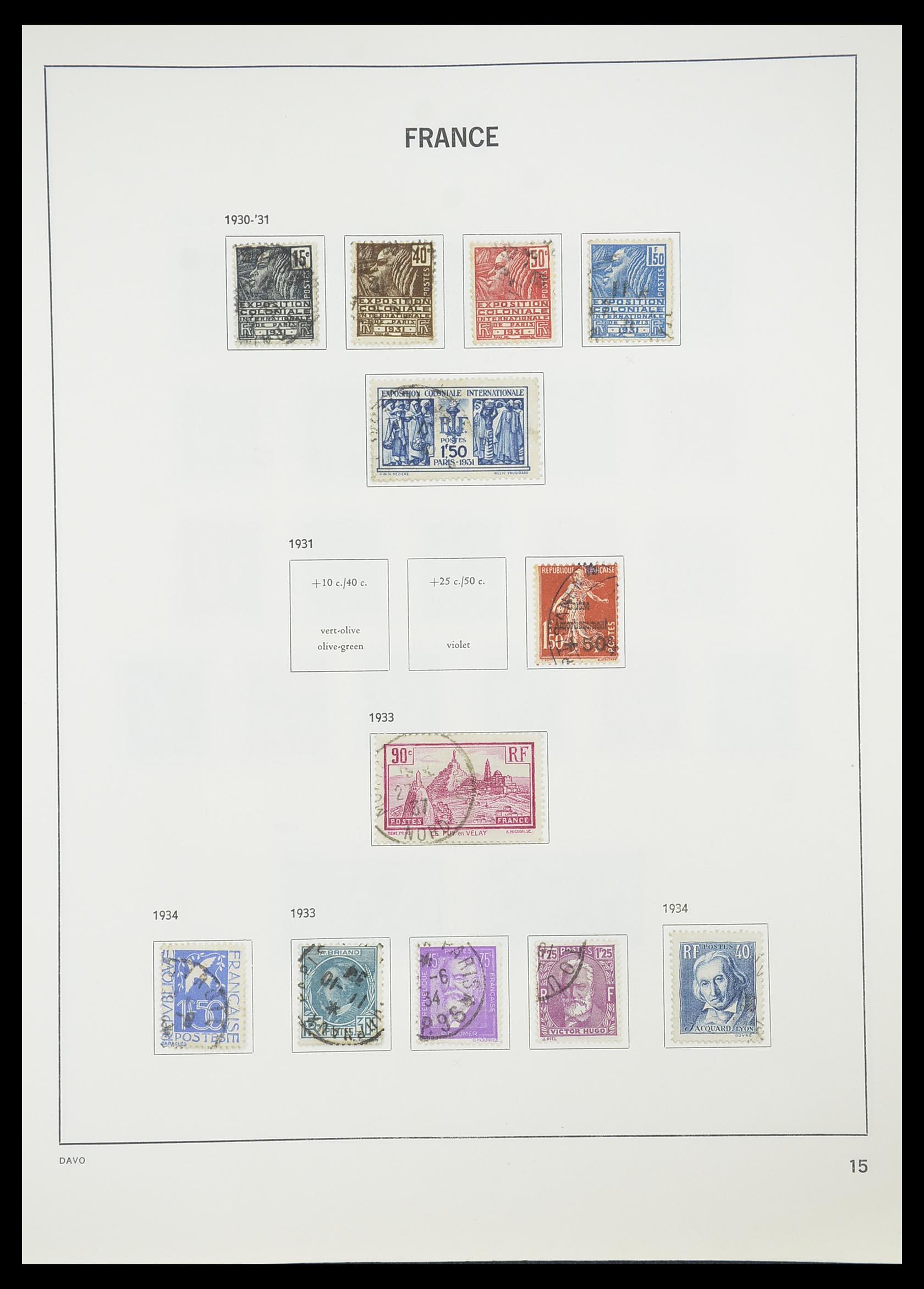 33819 017 - Postzegelverzameling 33819 Frankrijk 1849-1988.