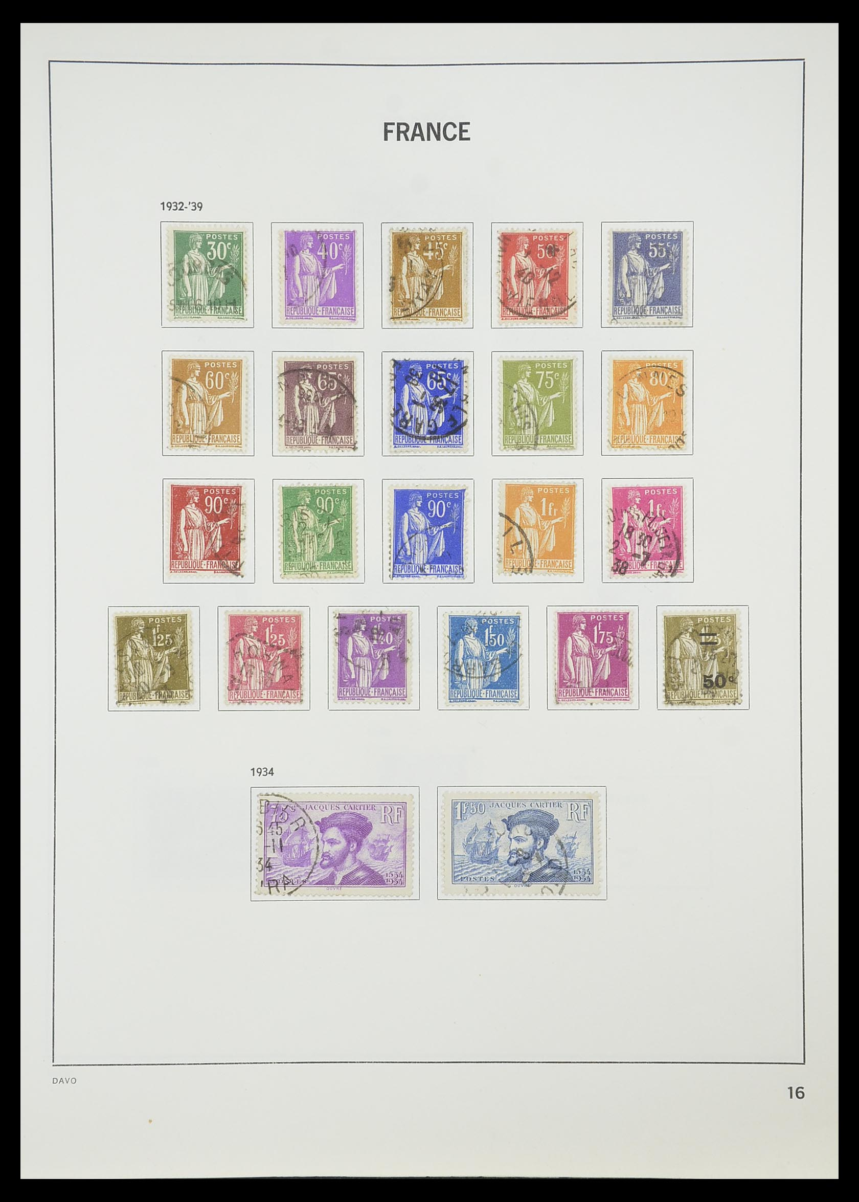 33819 018 - Postzegelverzameling 33819 Frankrijk 1849-1988.