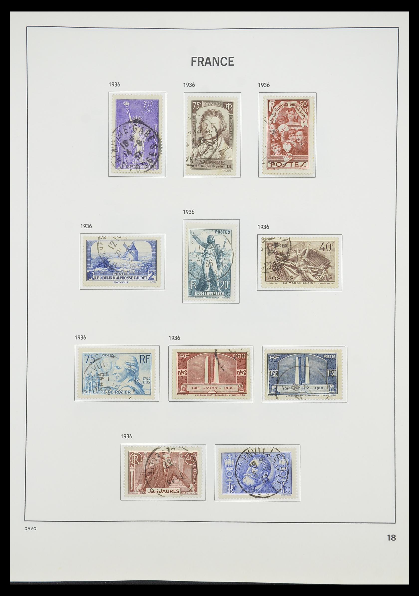 33819 020 - Postzegelverzameling 33819 Frankrijk 1849-1988.