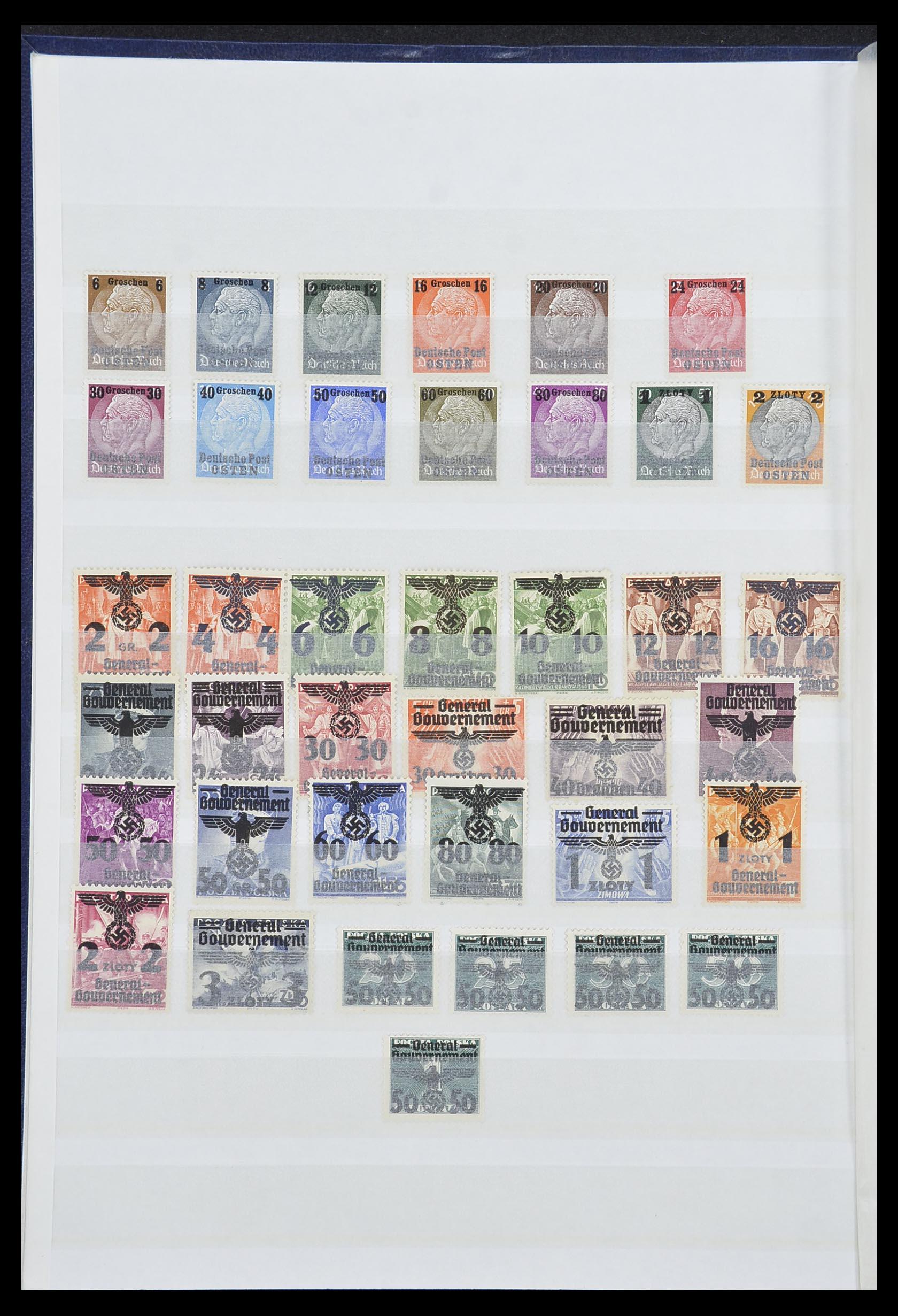33850 001 - Postzegelverzameling 33850 Duitse bezettingen 2e wereldoorlog 1939-19