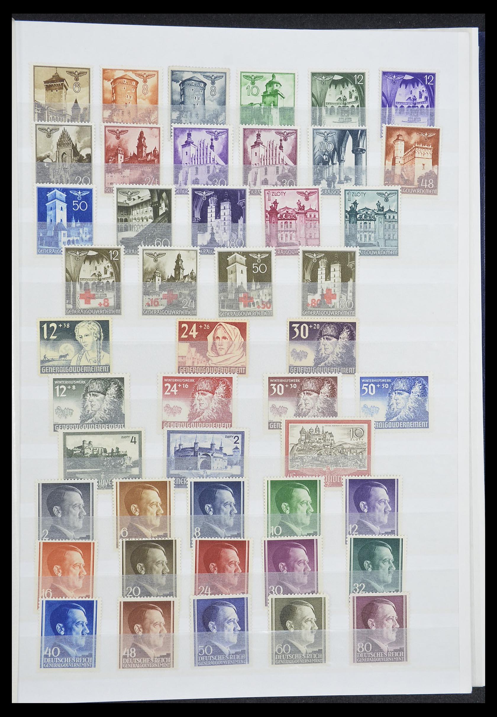 33850 002 - Postzegelverzameling 33850 Duitse bezettingen 2e wereldoorlog 1939-19