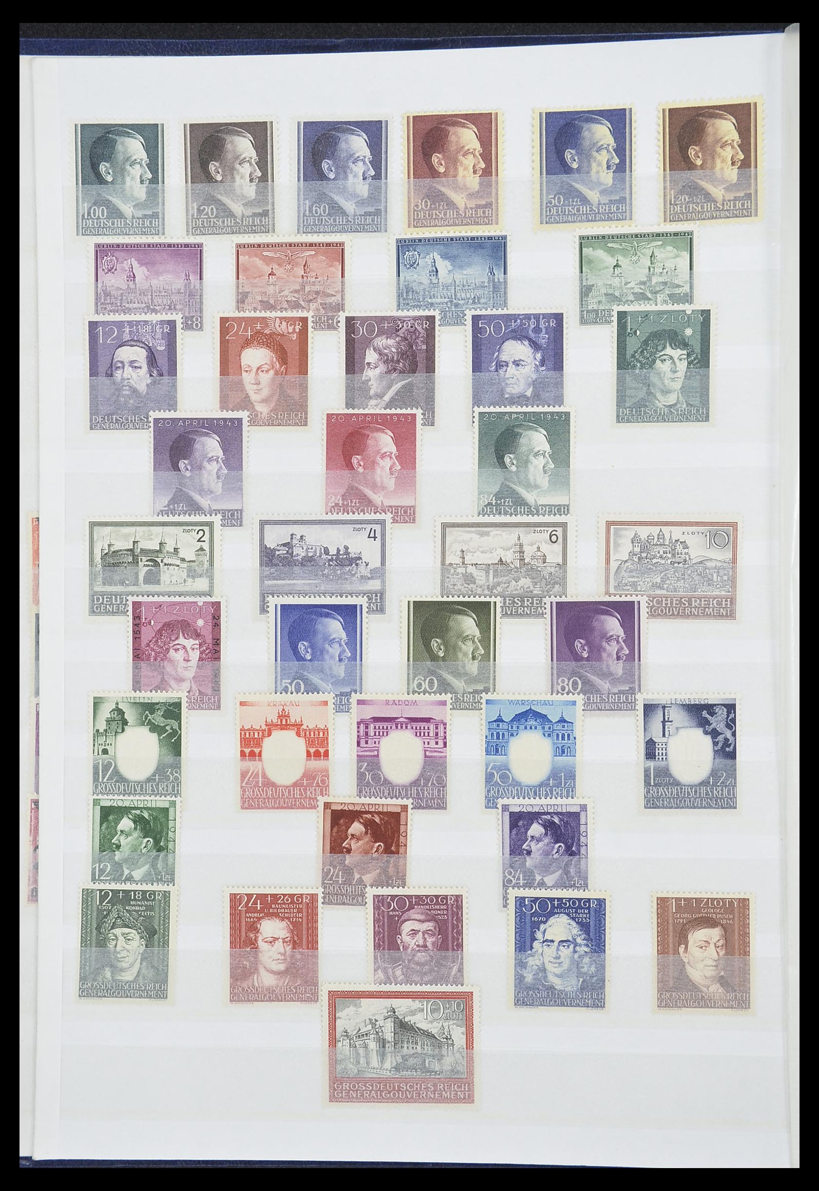 33850 003 - Postzegelverzameling 33850 Duitse bezettingen 2e wereldoorlog 1939-19