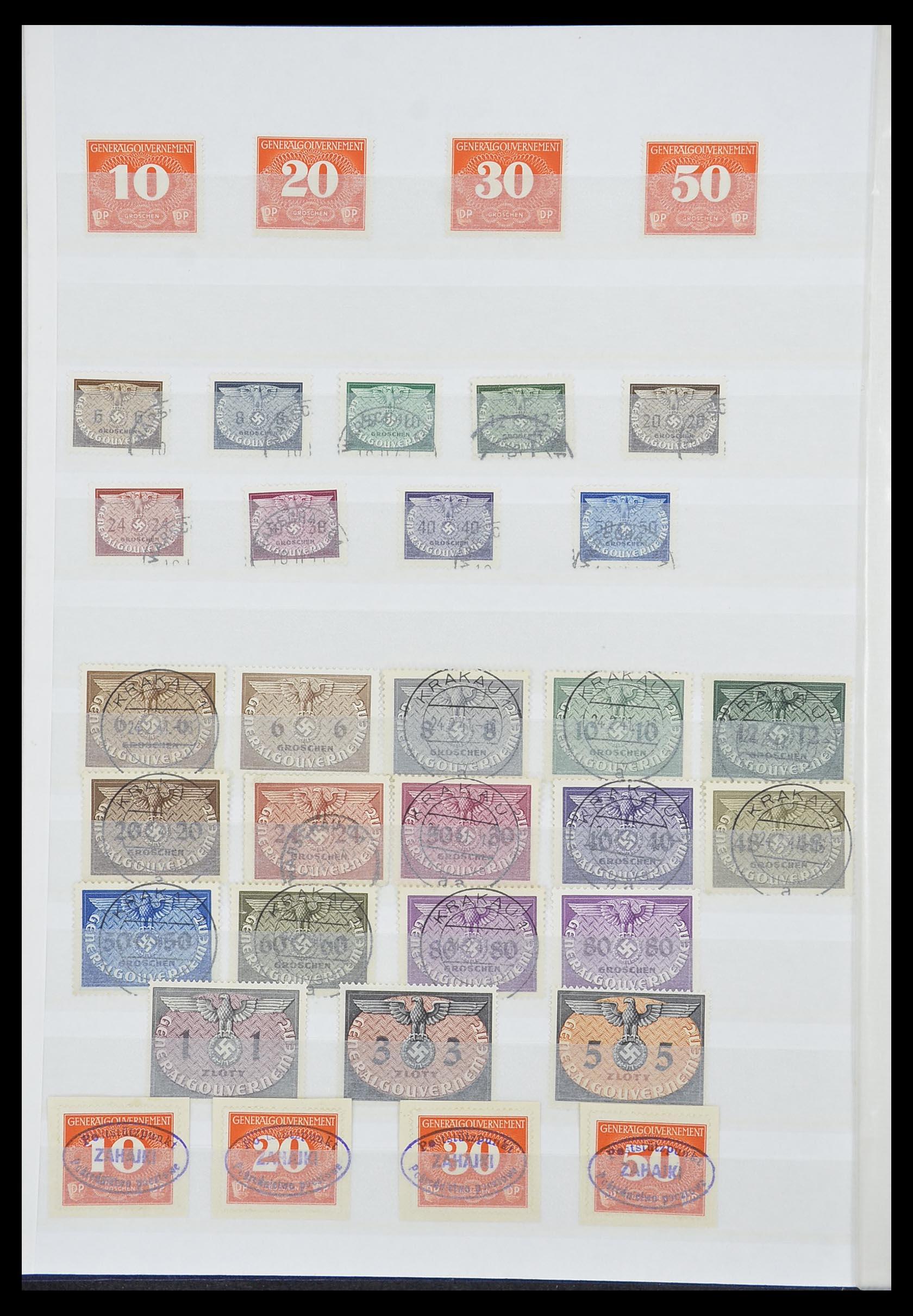 33850 005 - Postzegelverzameling 33850 Duitse bezettingen 2e wereldoorlog 1939-19