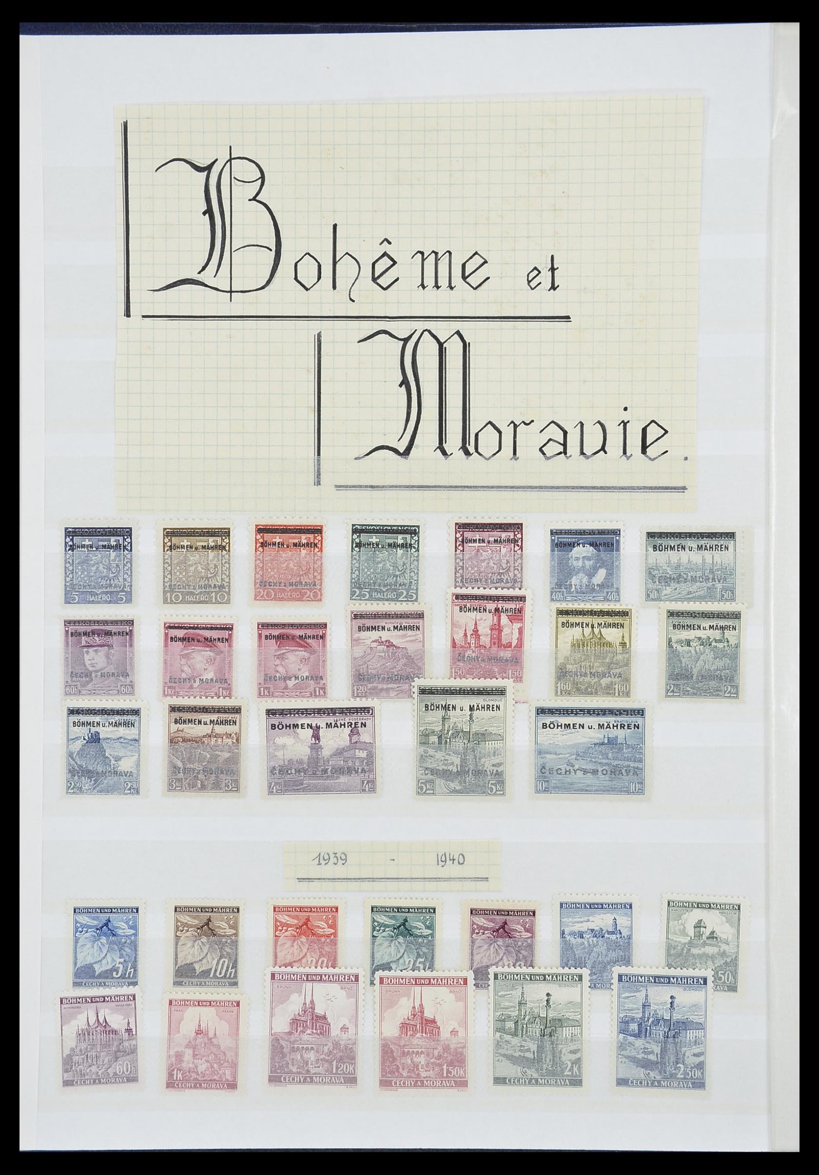 33850 008 - Postzegelverzameling 33850 Duitse bezettingen 2e wereldoorlog 1939-19