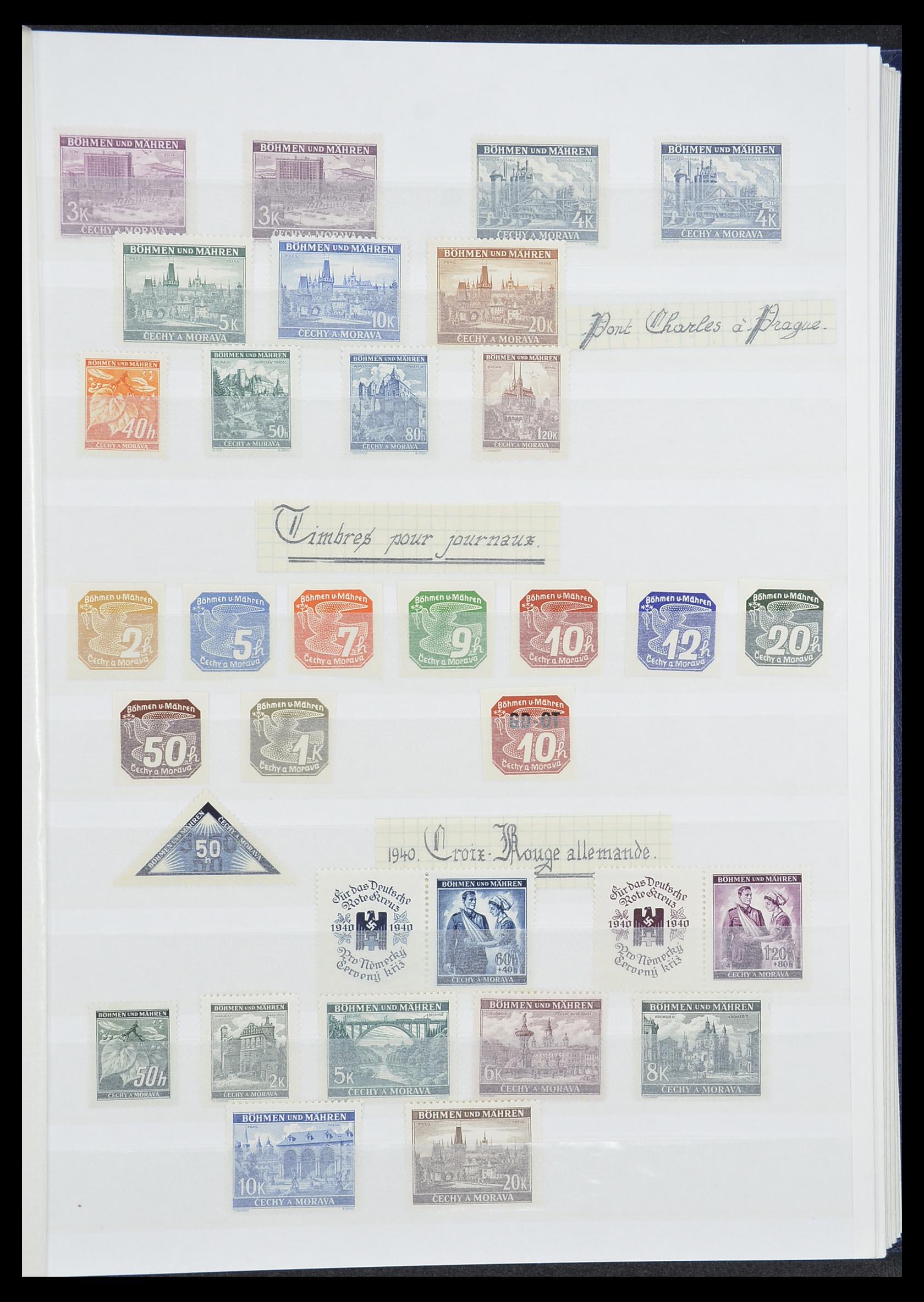 33850 009 - Postzegelverzameling 33850 Duitse bezettingen 2e wereldoorlog 1939-19