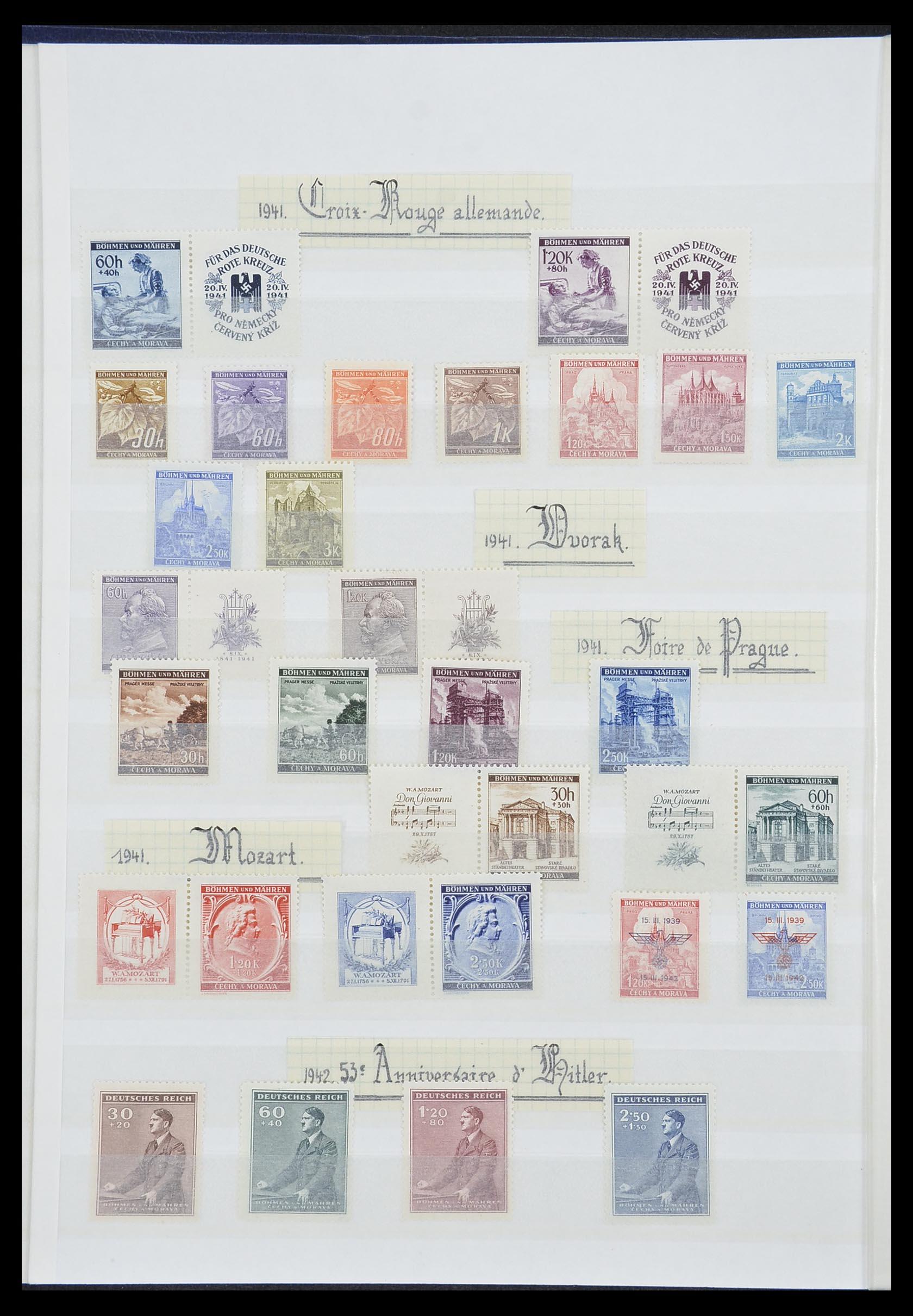 33850 010 - Postzegelverzameling 33850 Duitse bezettingen 2e wereldoorlog 1939-19