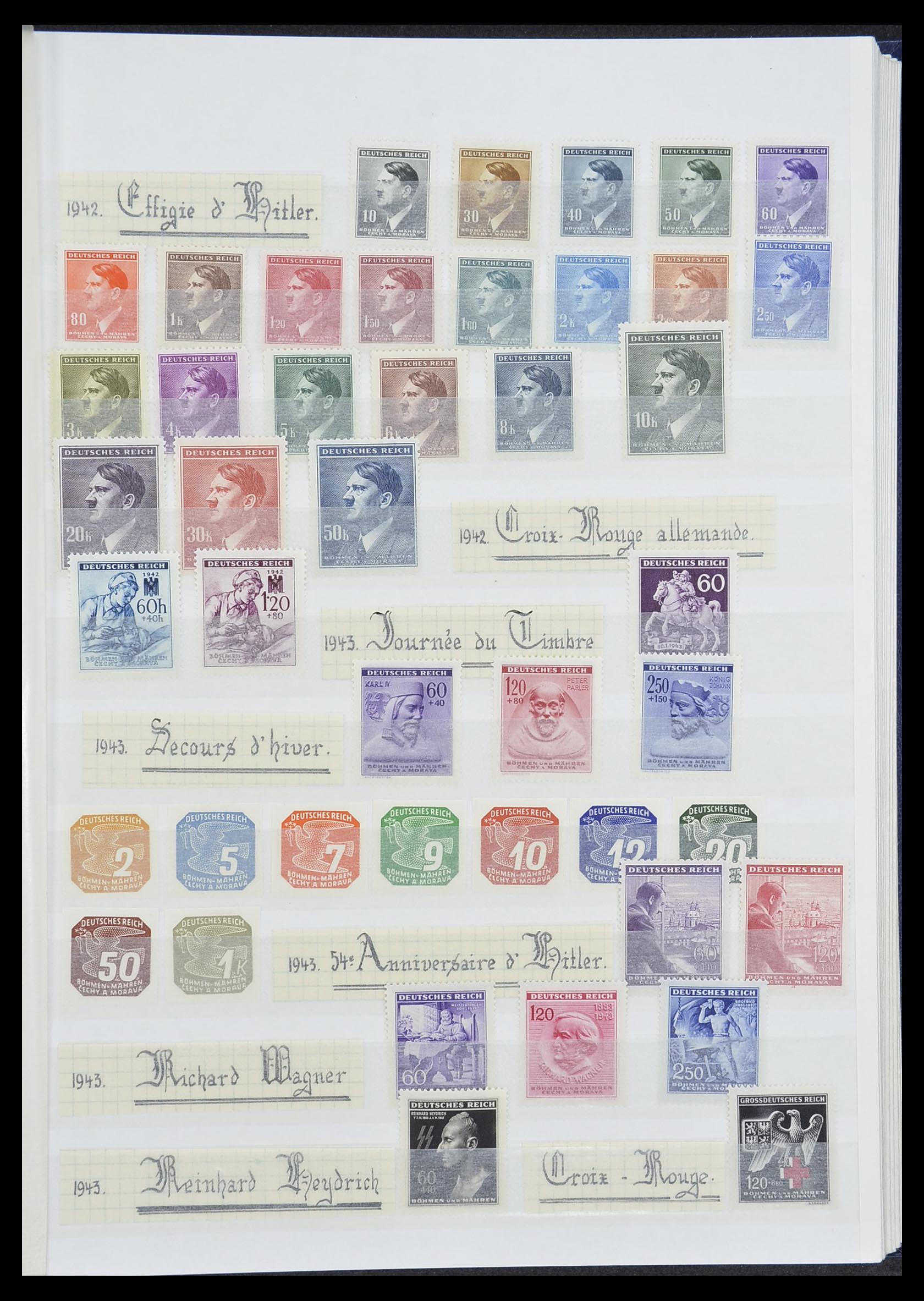 33850 011 - Postzegelverzameling 33850 Duitse bezettingen 2e wereldoorlog 1939-19