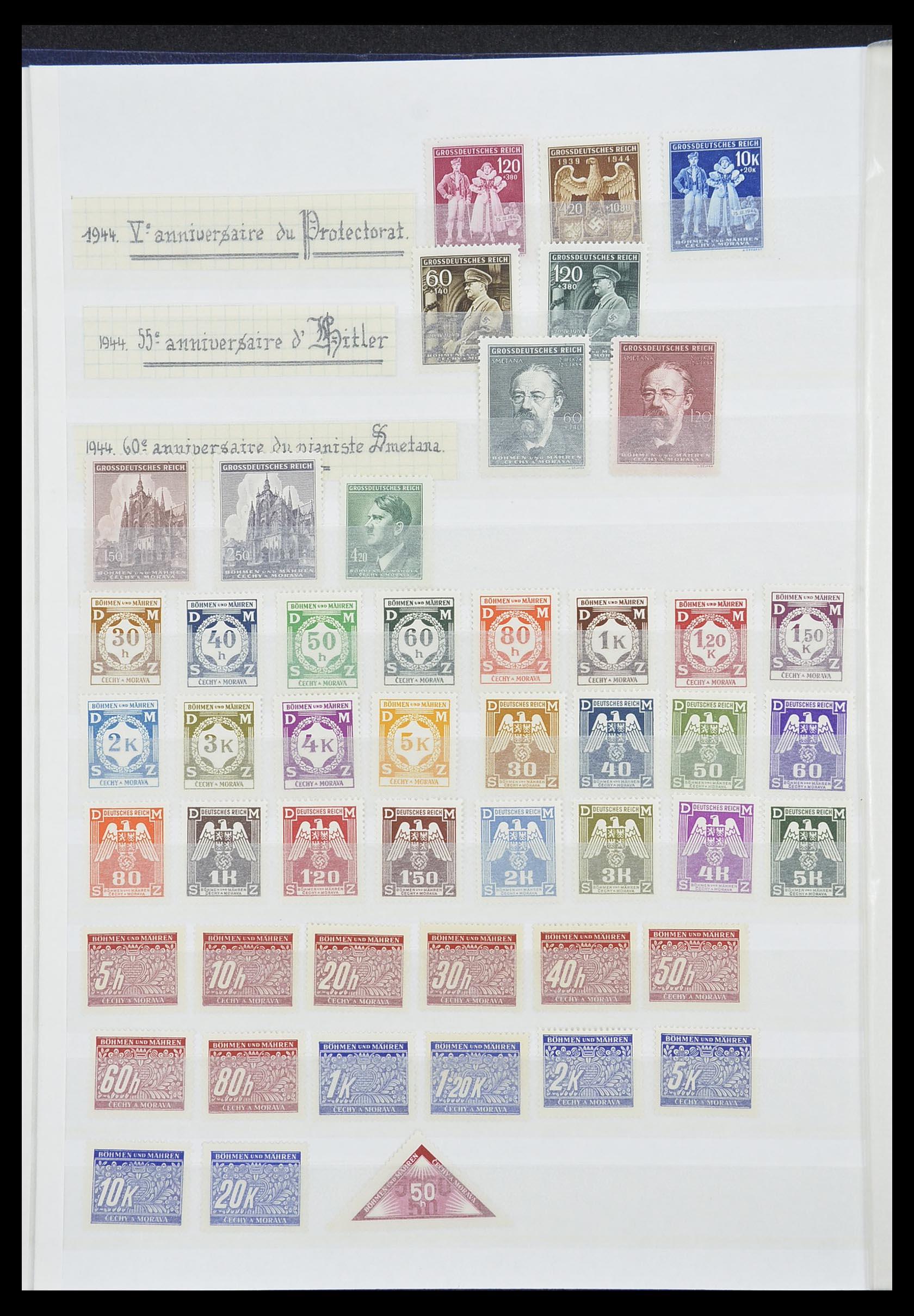 33850 012 - Postzegelverzameling 33850 Duitse bezettingen 2e wereldoorlog 1939-19