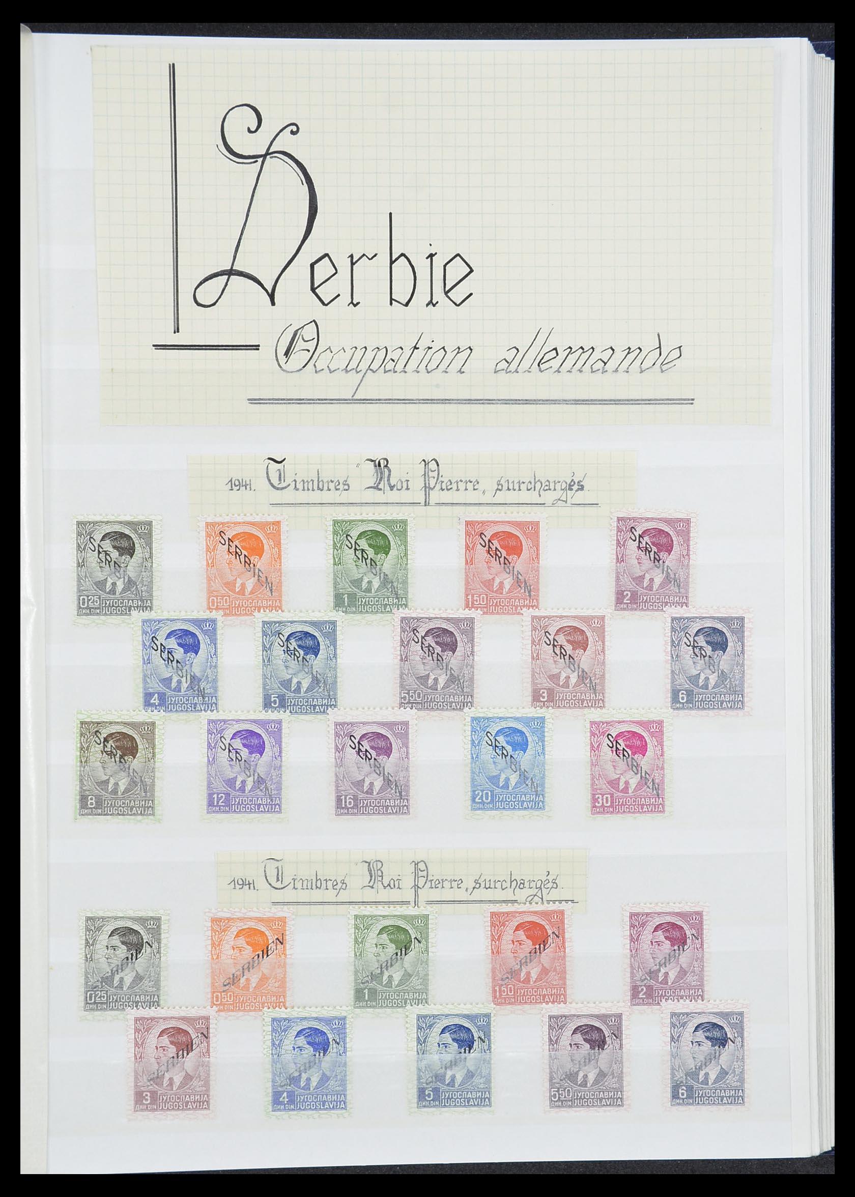 33850 013 - Postzegelverzameling 33850 Duitse bezettingen 2e wereldoorlog 1939-19