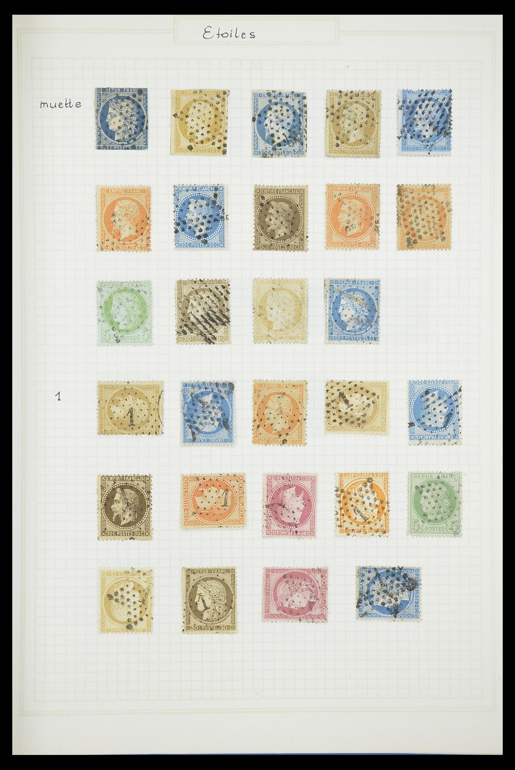 33851 001 - Postzegelverzameling 33851 Frankrijk klassiek stempels.