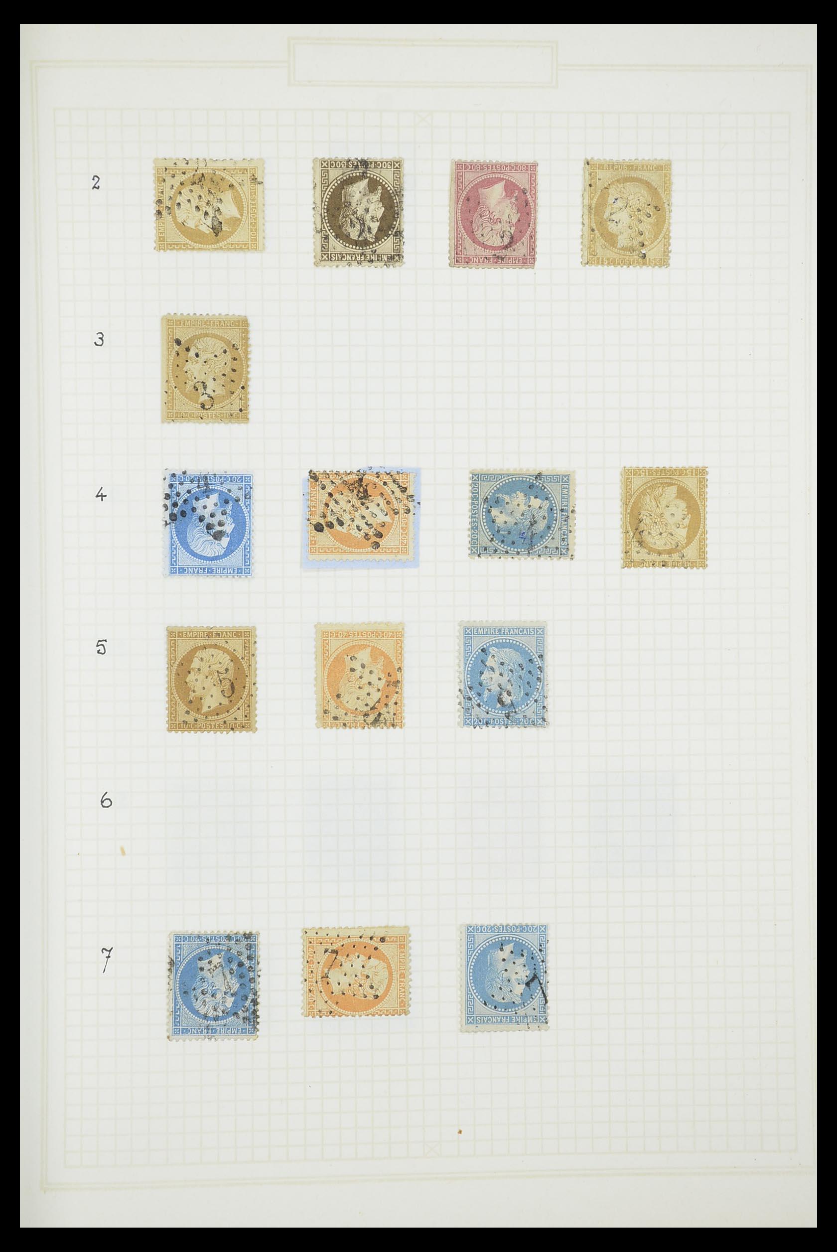 33851 002 - Postzegelverzameling 33851 Frankrijk klassiek stempels.