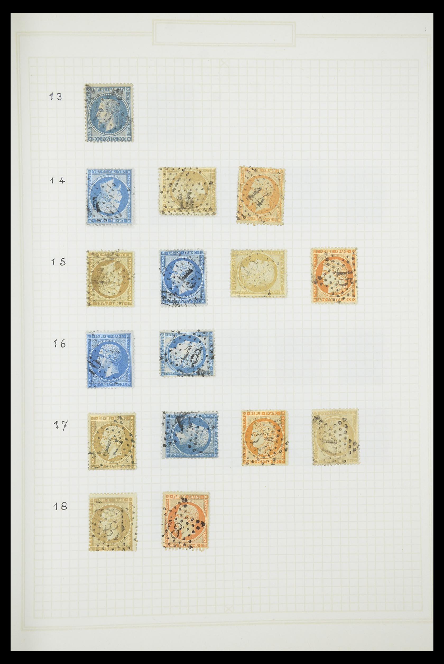 33851 004 - Postzegelverzameling 33851 Frankrijk klassiek stempels.