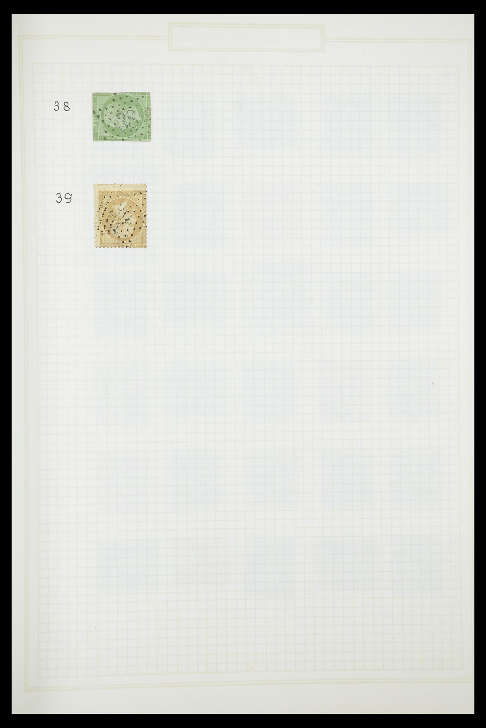 33851 008 - Postzegelverzameling 33851 Frankrijk klassiek stempels.