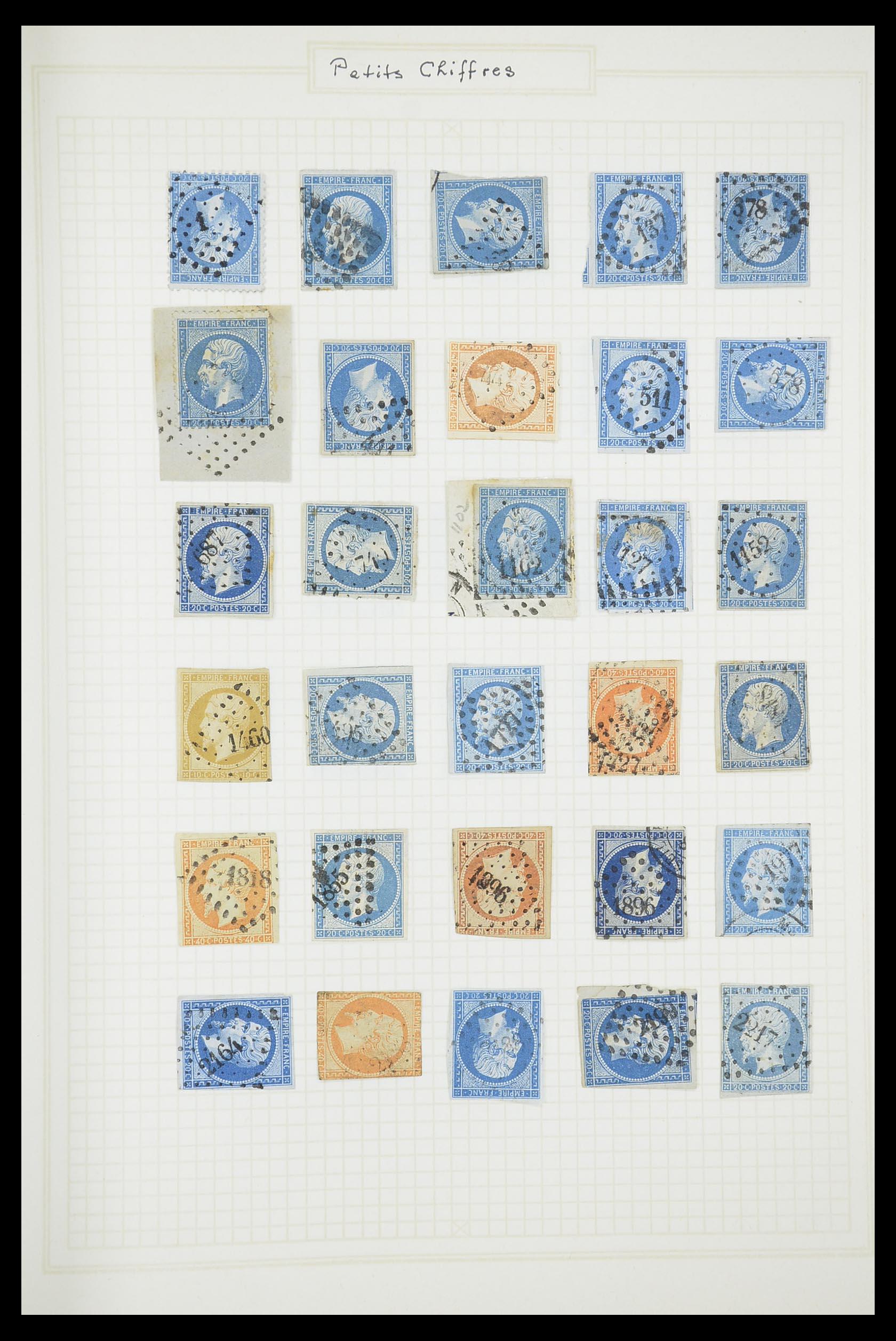 33851 009 - Postzegelverzameling 33851 Frankrijk klassiek stempels.