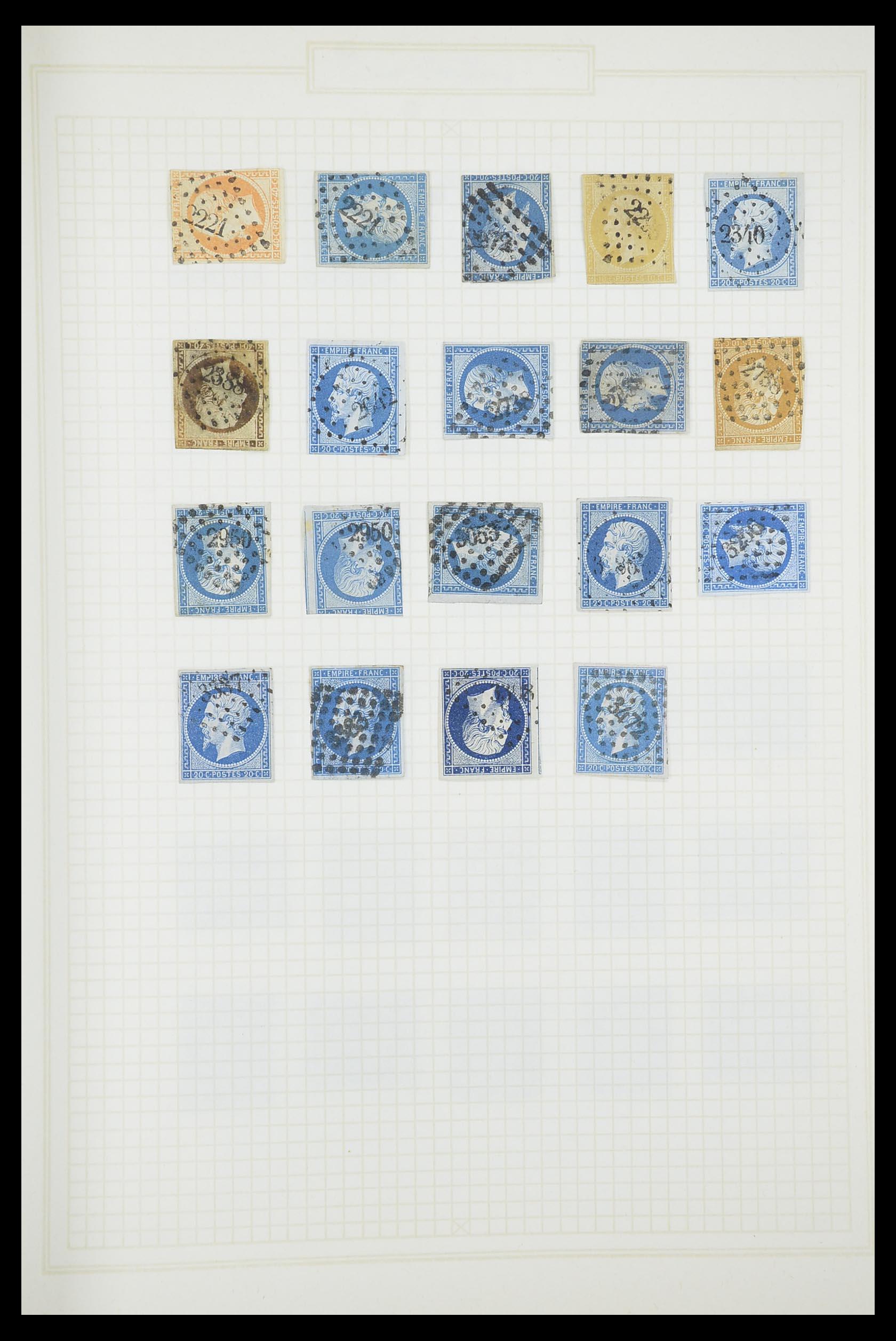 33851 010 - Postzegelverzameling 33851 Frankrijk klassiek stempels.