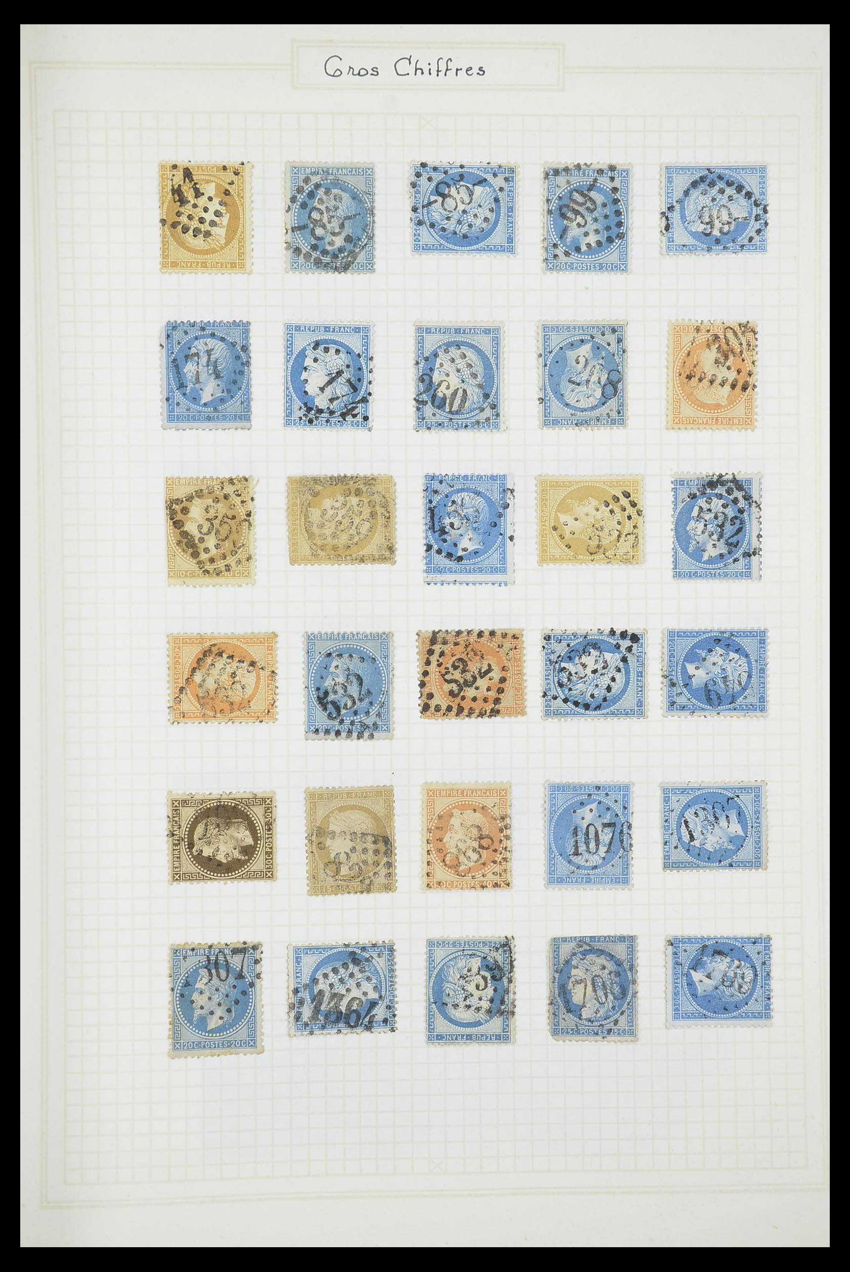 33851 011 - Postzegelverzameling 33851 Frankrijk klassiek stempels.