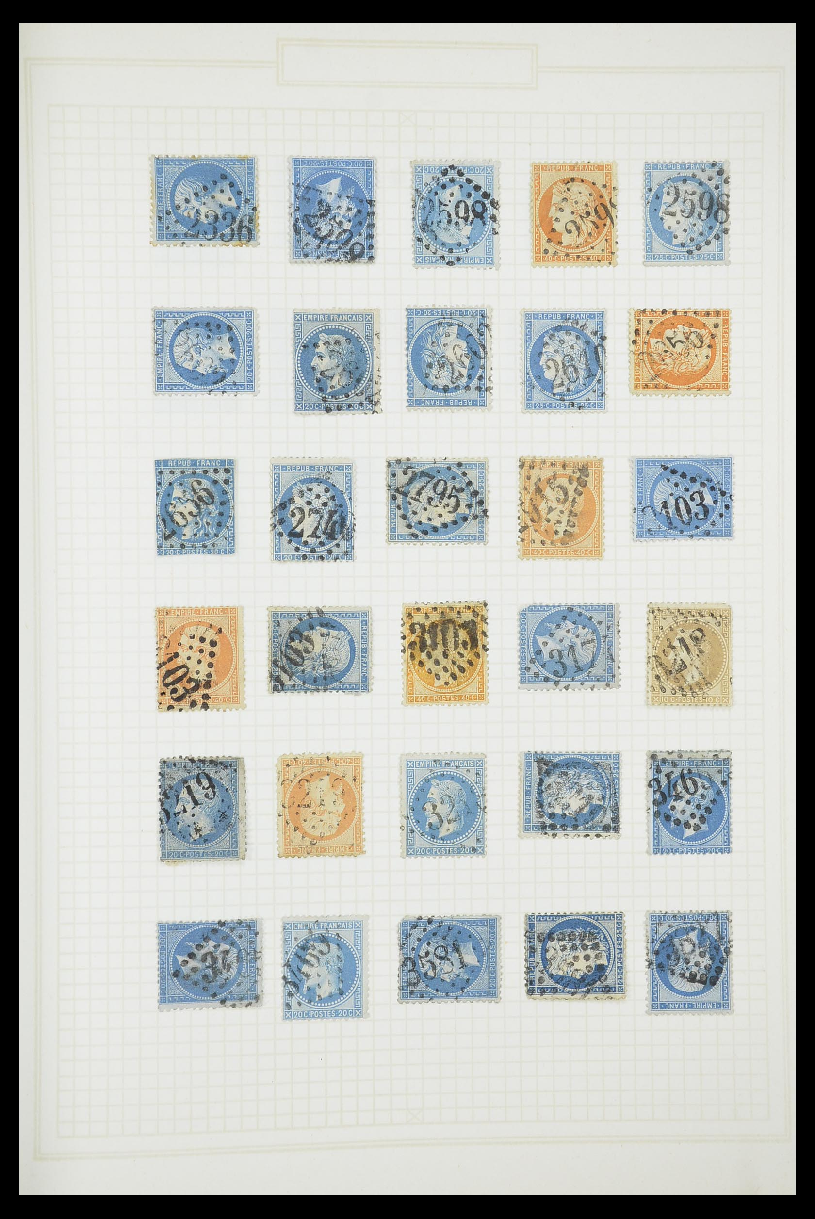 33851 013 - Postzegelverzameling 33851 Frankrijk klassiek stempels.