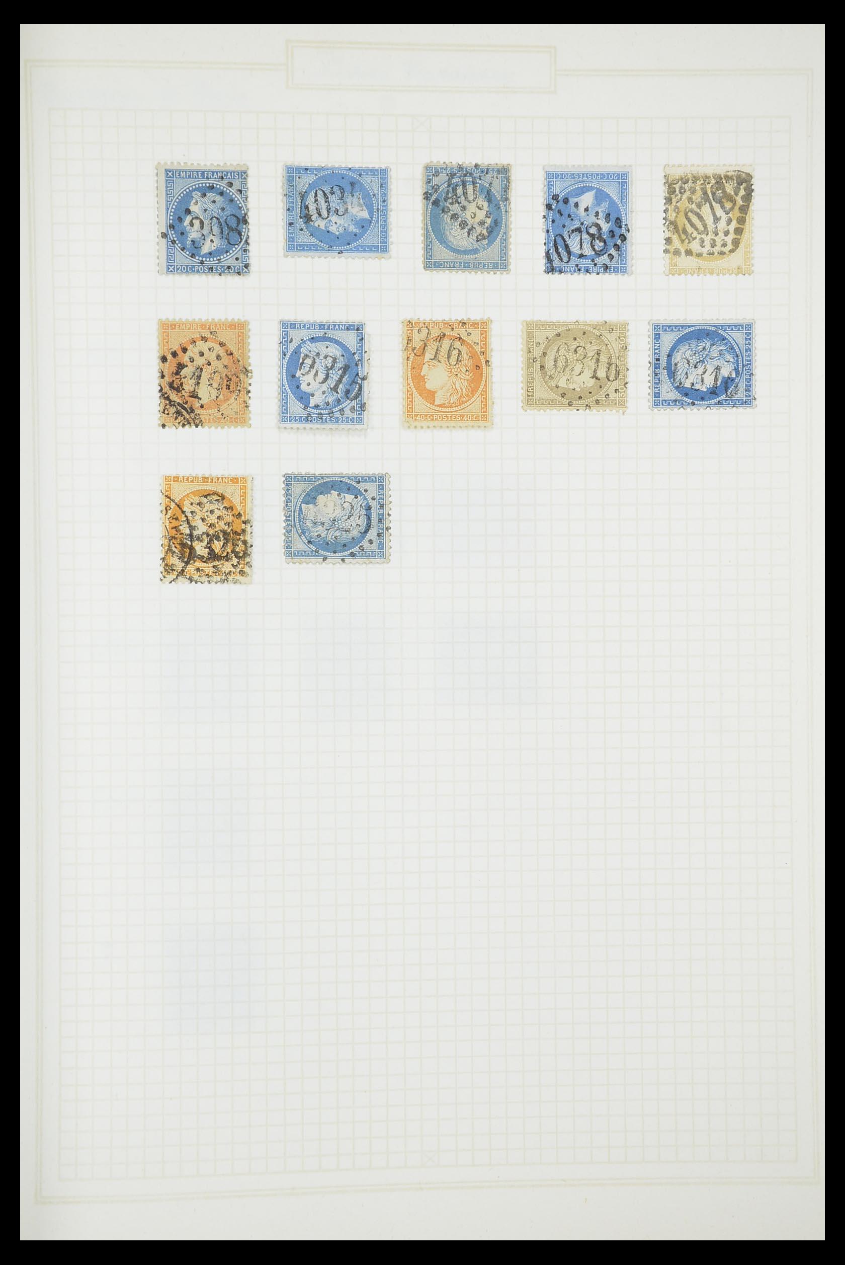 33851 014 - Postzegelverzameling 33851 Frankrijk klassiek stempels.