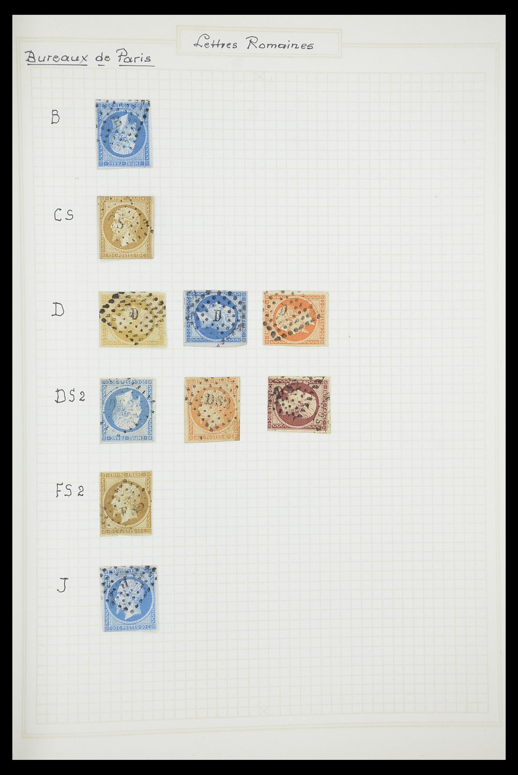 33851 015 - Postzegelverzameling 33851 Frankrijk klassiek stempels.