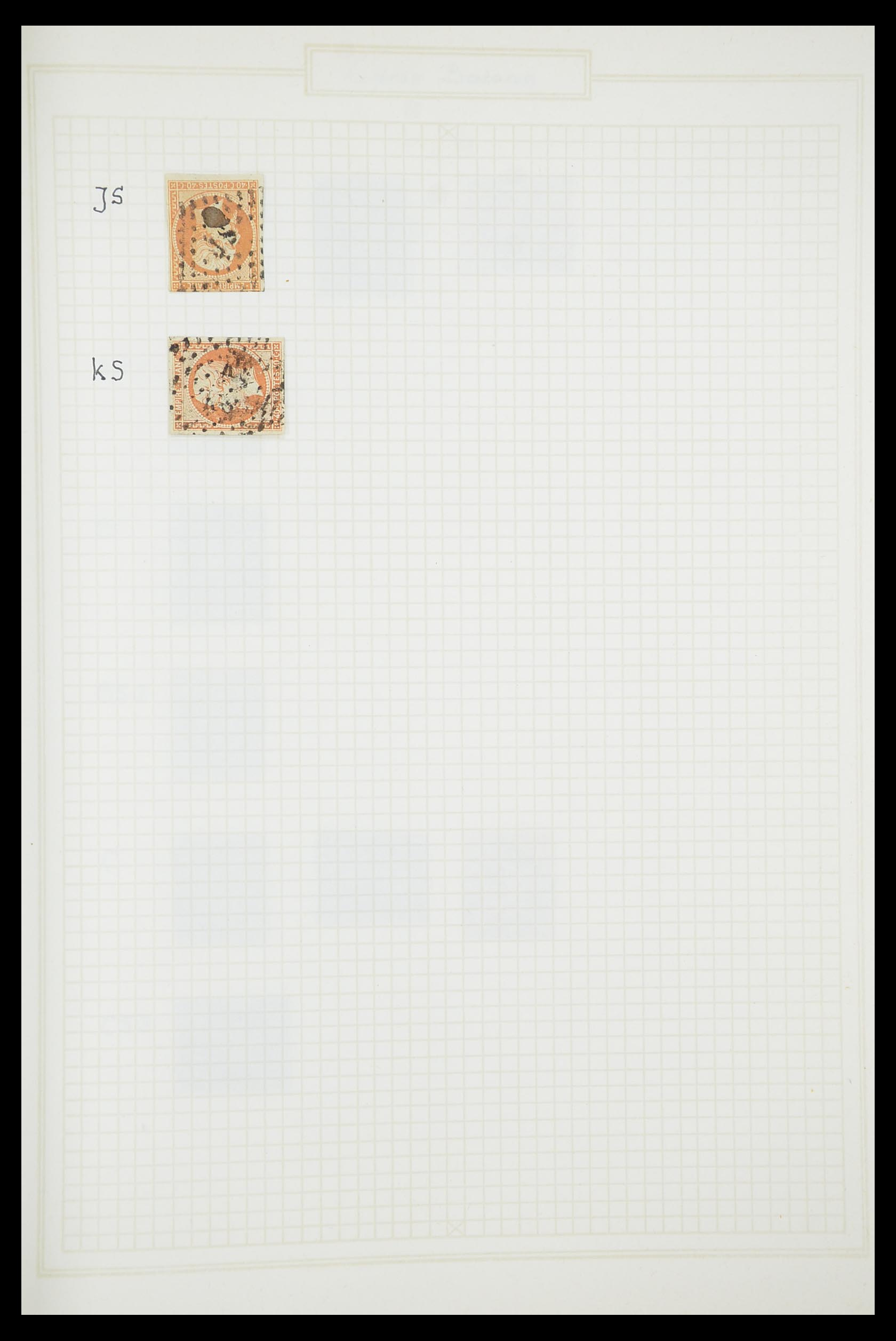 33851 016 - Postzegelverzameling 33851 Frankrijk klassiek stempels.