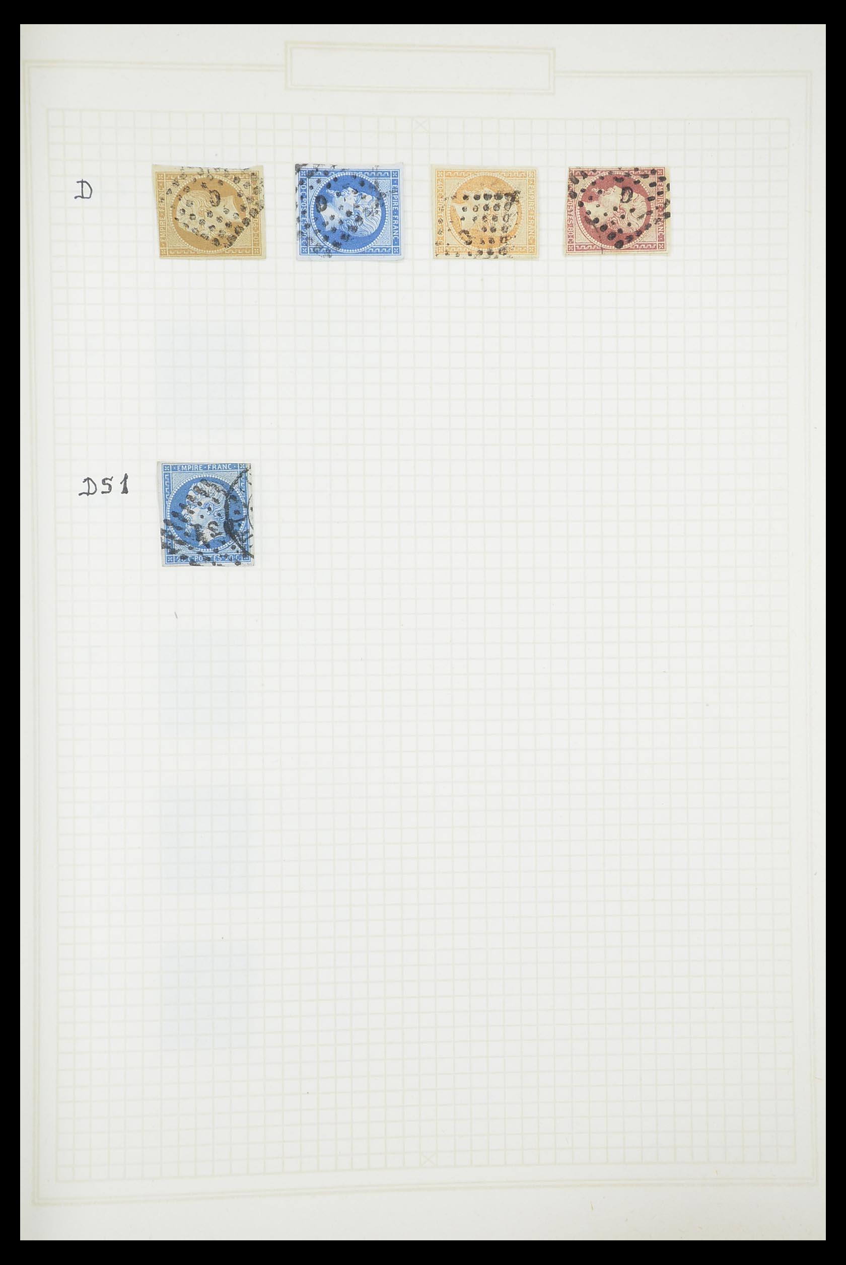 33851 018 - Postzegelverzameling 33851 Frankrijk klassiek stempels.