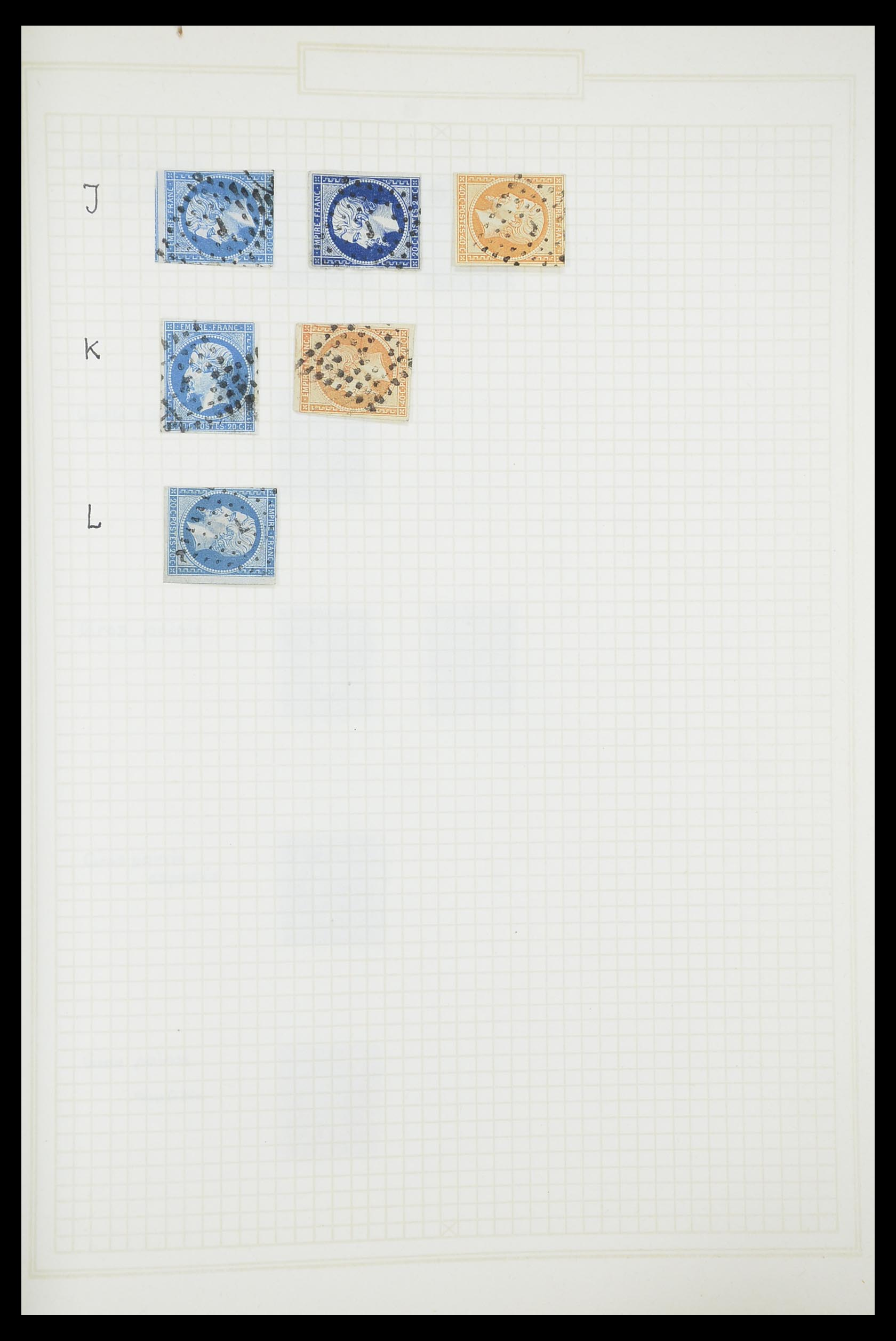 33851 020 - Postzegelverzameling 33851 Frankrijk klassiek stempels.
