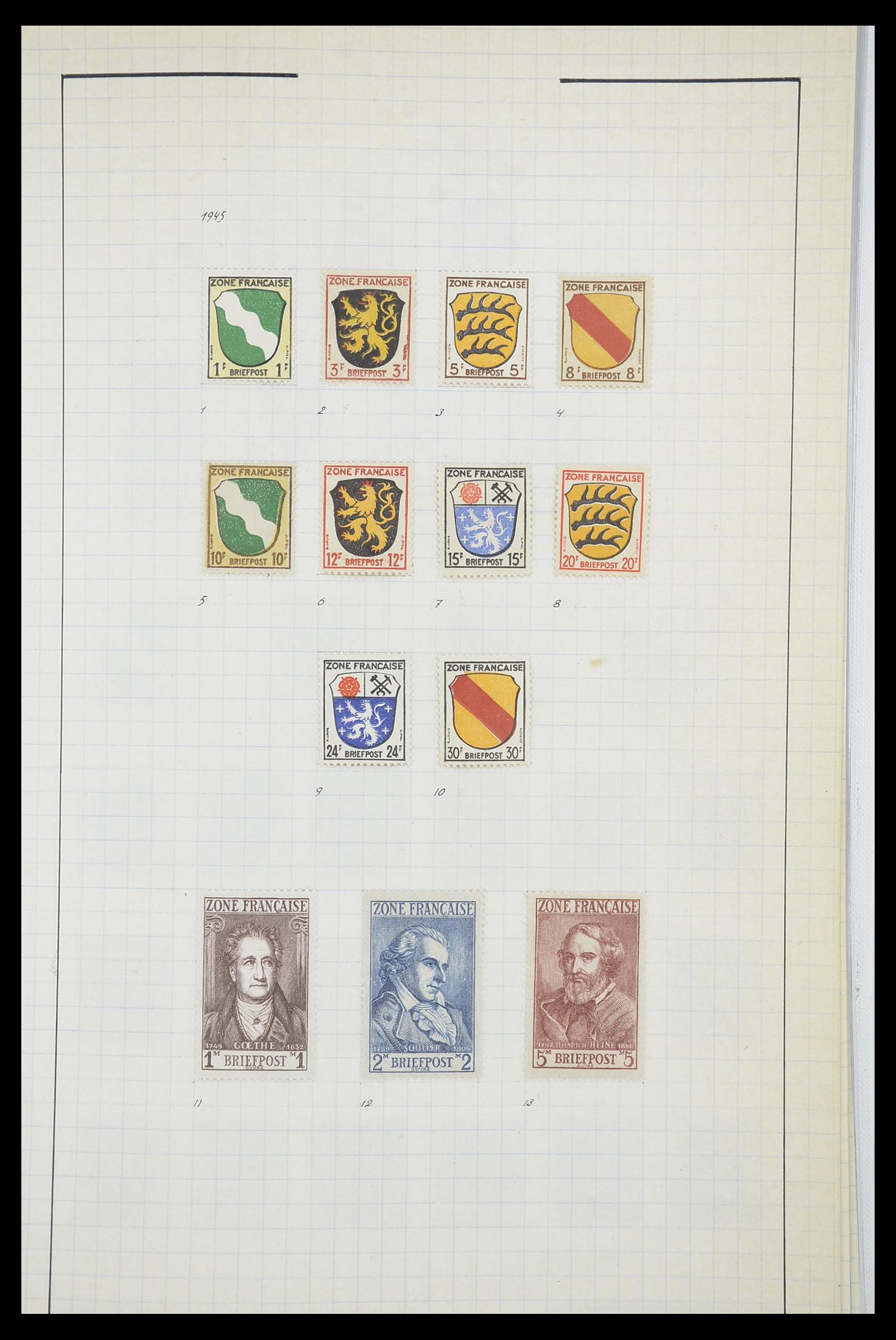 33864 002 - Postzegelverzameling 33864 Franse Zone 1945-1949.