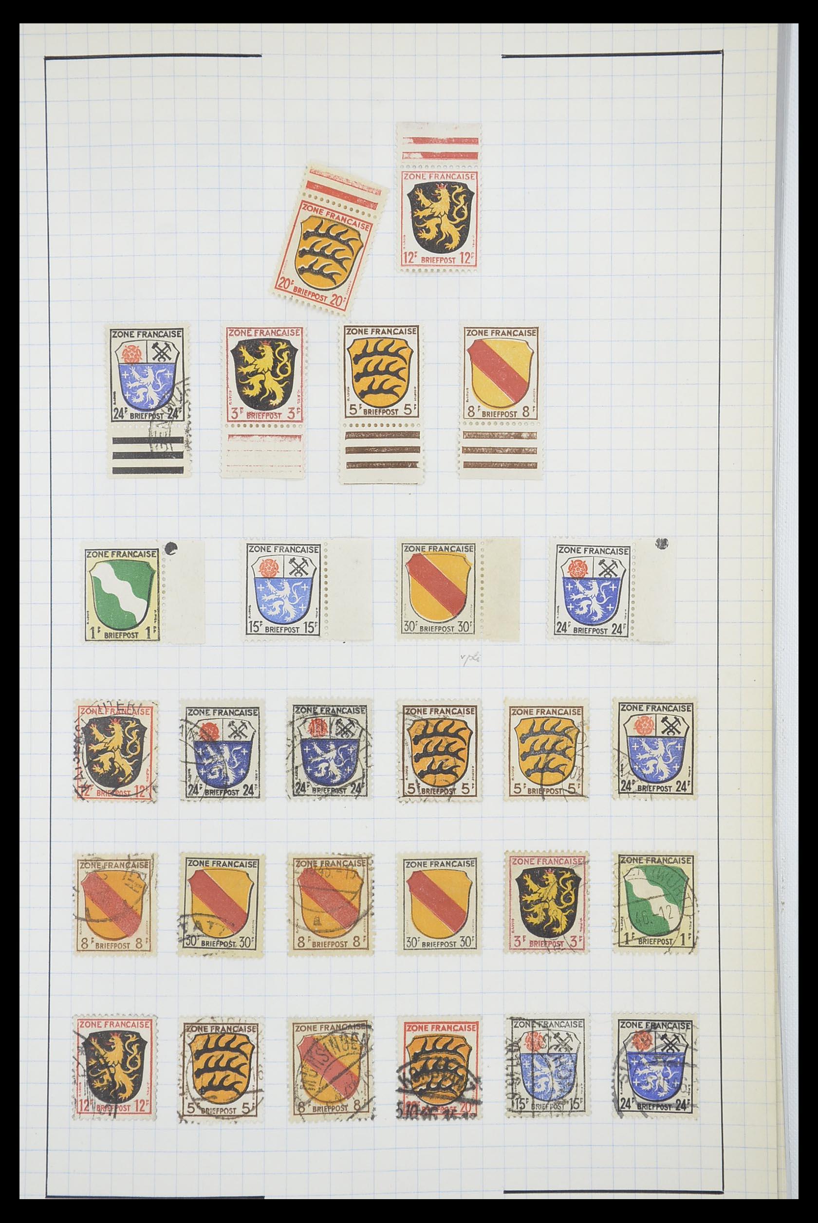 33864 003 - Postzegelverzameling 33864 Franse Zone 1945-1949.