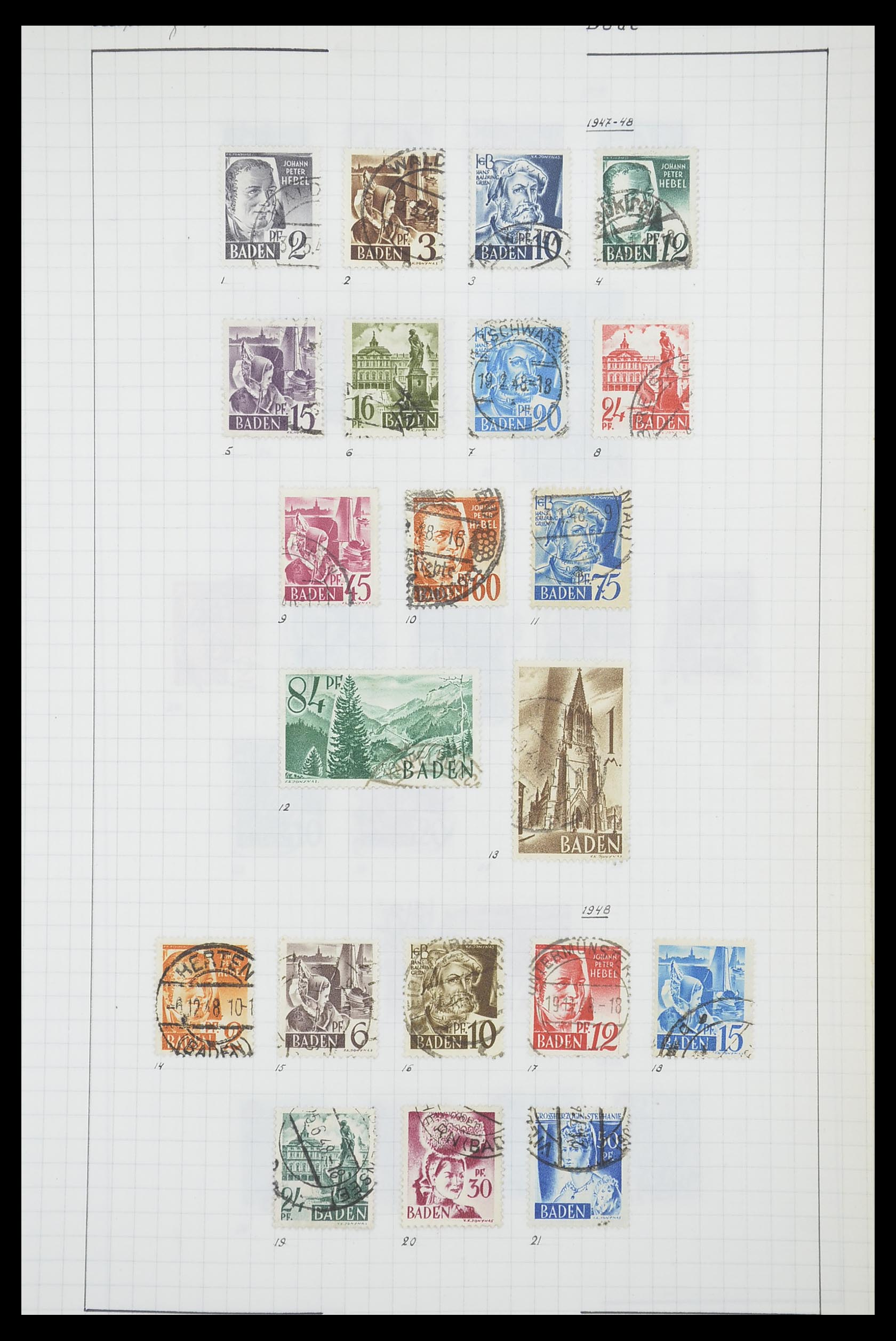 33864 007 - Postzegelverzameling 33864 Franse Zone 1945-1949.