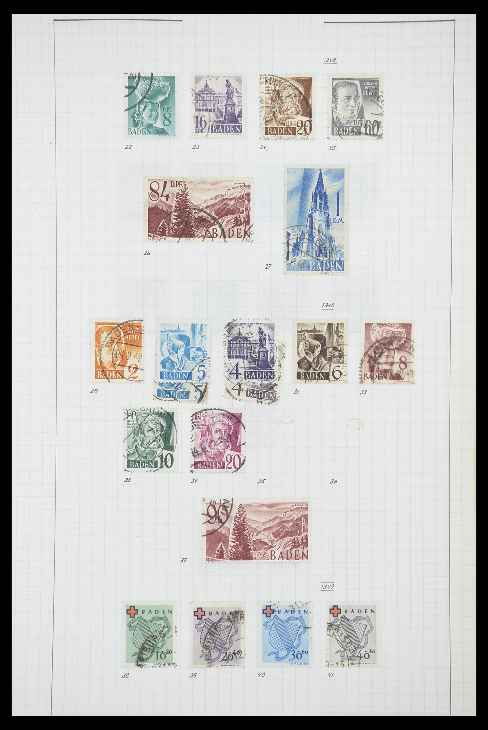 33864 008 - Postzegelverzameling 33864 Franse Zone 1945-1949.