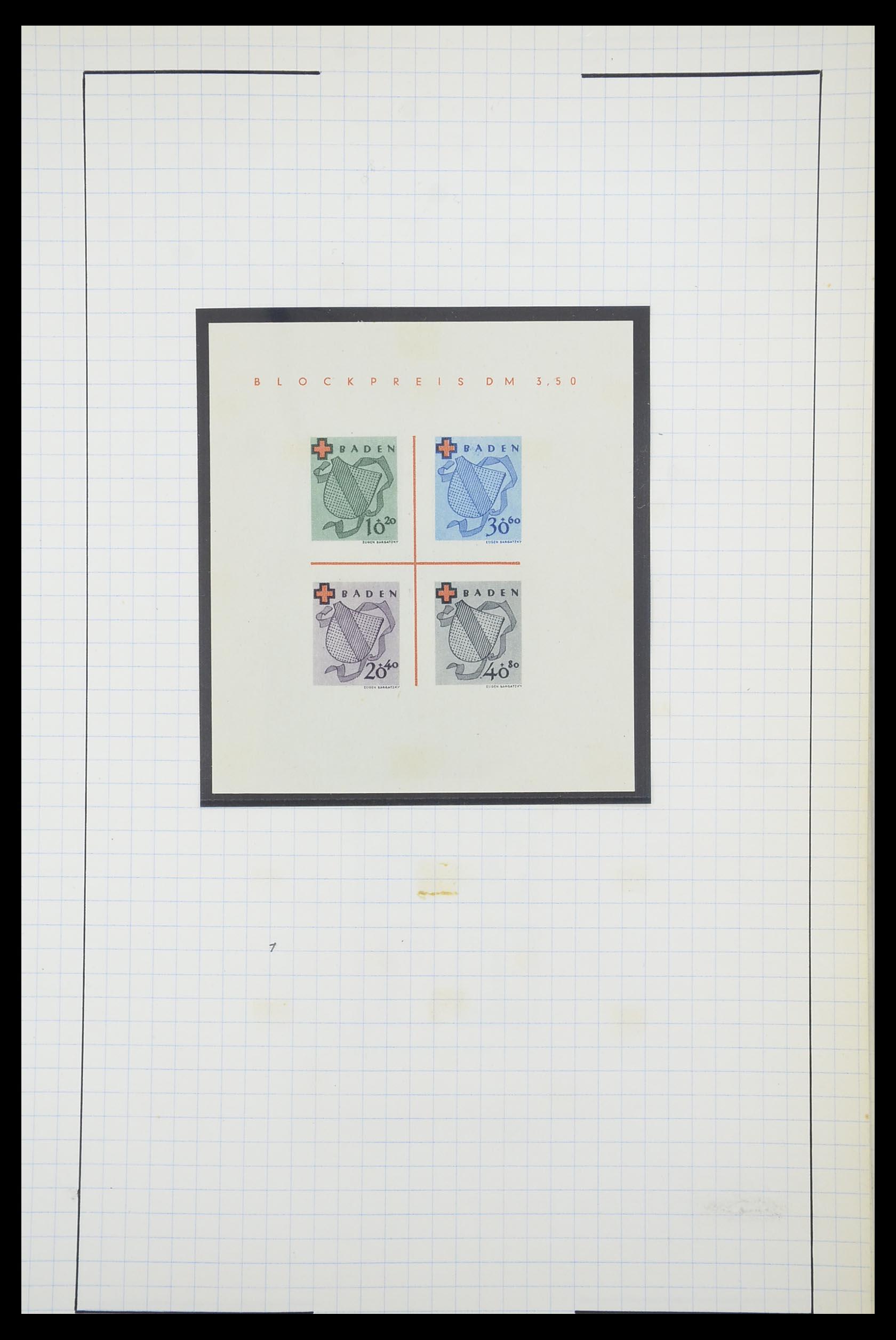 33864 012 - Postzegelverzameling 33864 Franse Zone 1945-1949.