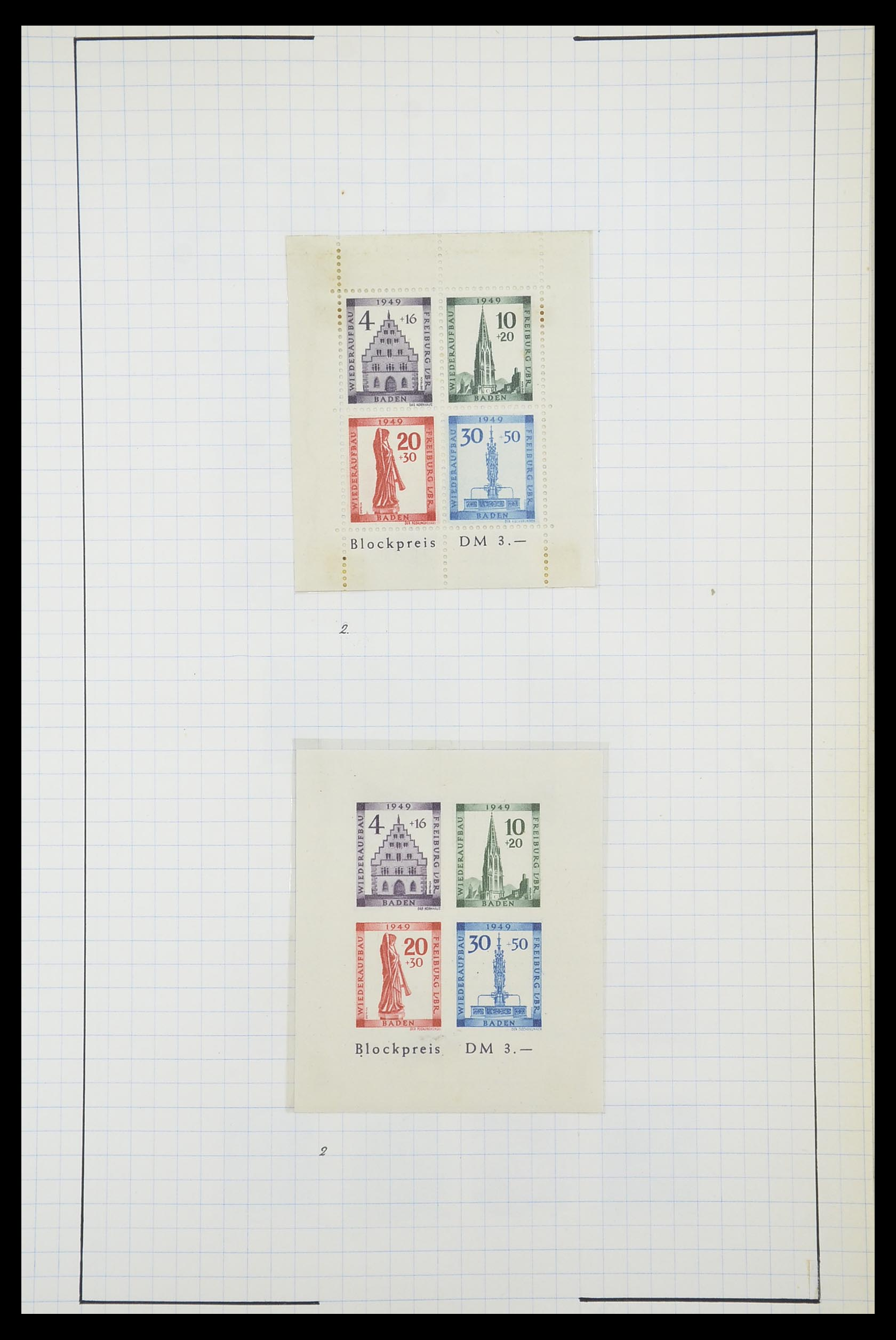 33864 013 - Postzegelverzameling 33864 Franse Zone 1945-1949.