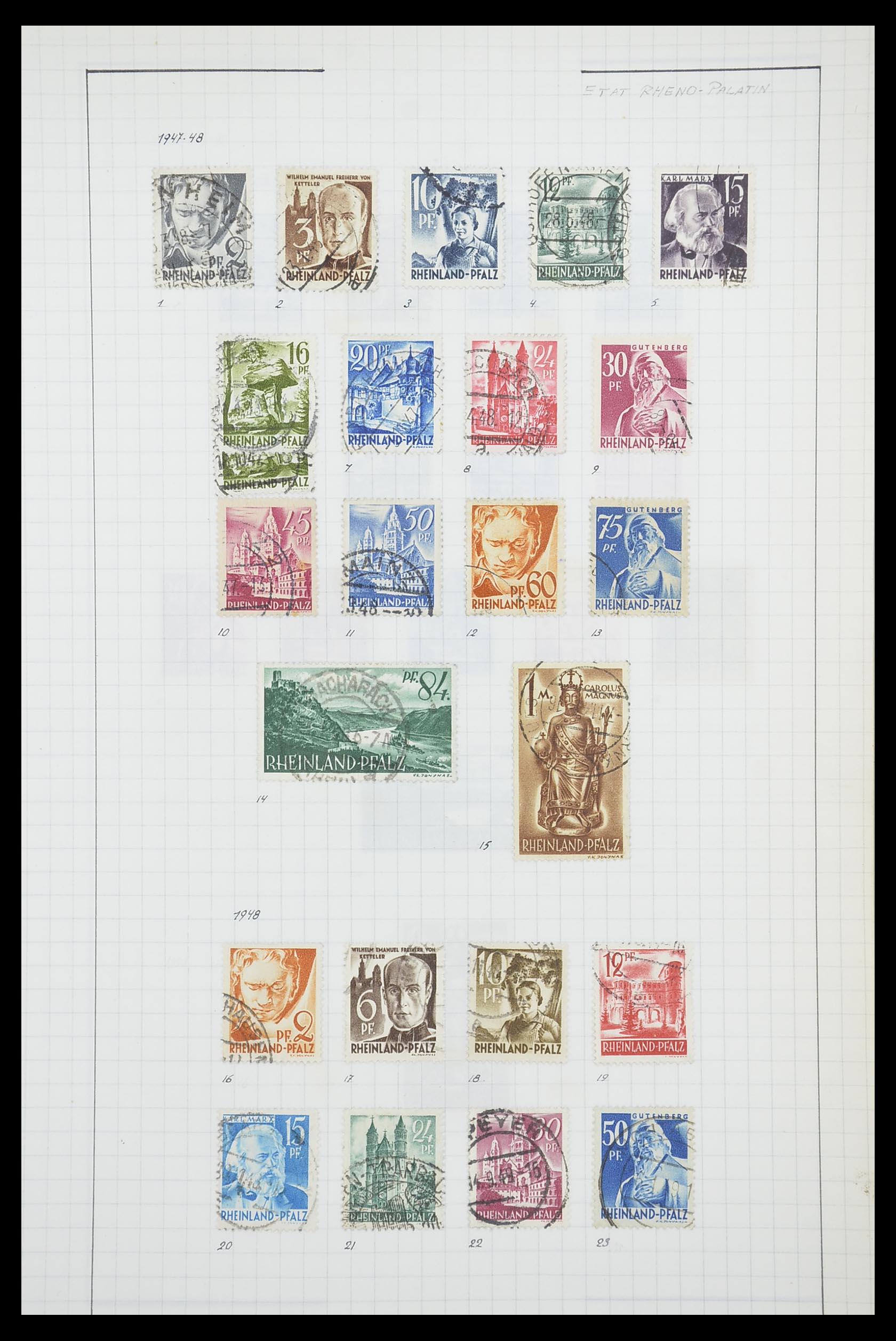 33864 014 - Postzegelverzameling 33864 Franse Zone 1945-1949.