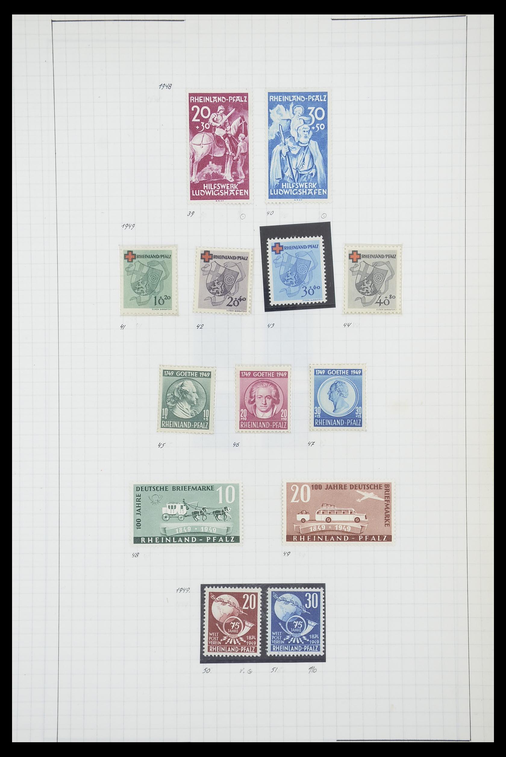 33864 017 - Postzegelverzameling 33864 Franse Zone 1945-1949.