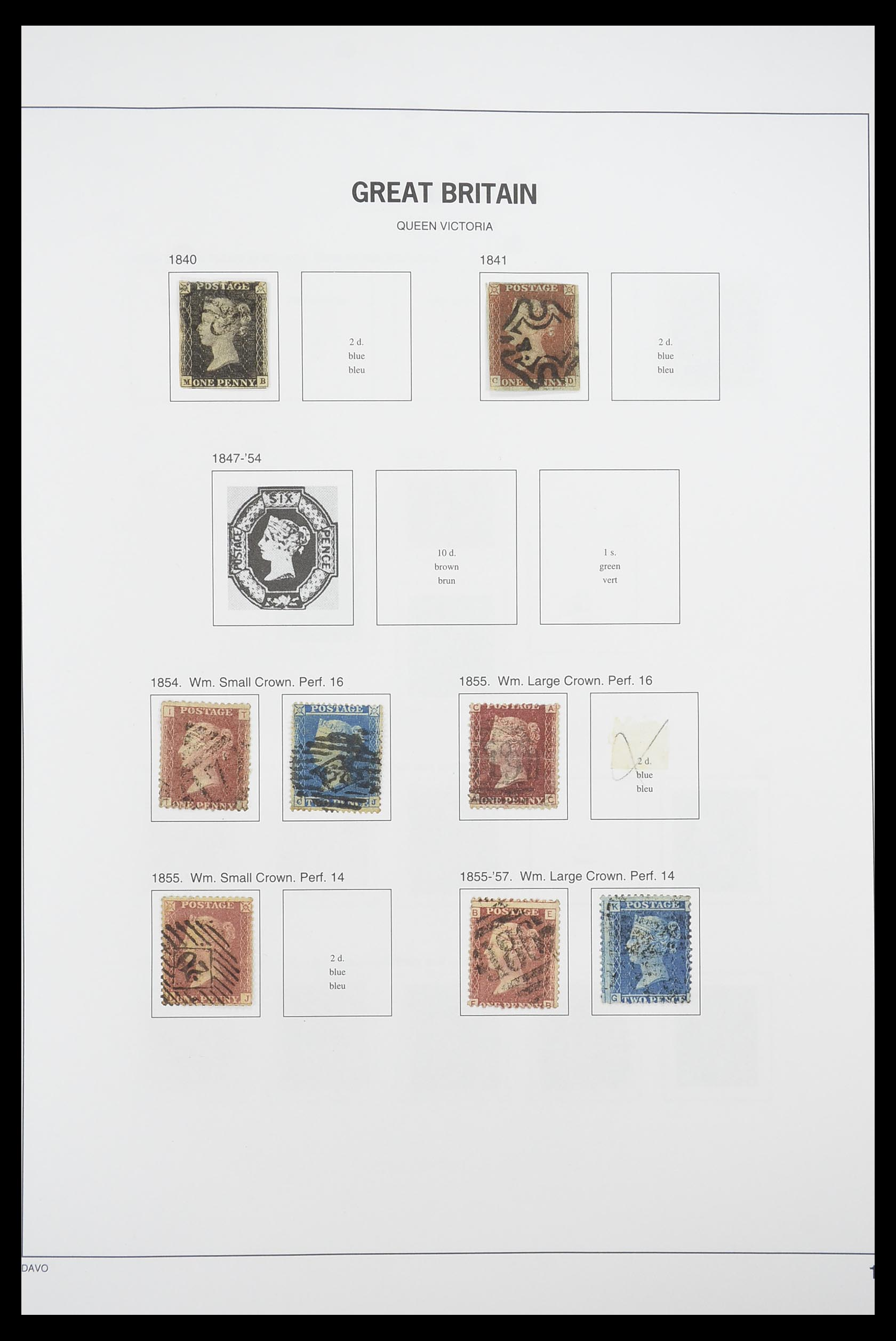 33898 001 - Stamp collection 33898 Great Britain 1840-2006.