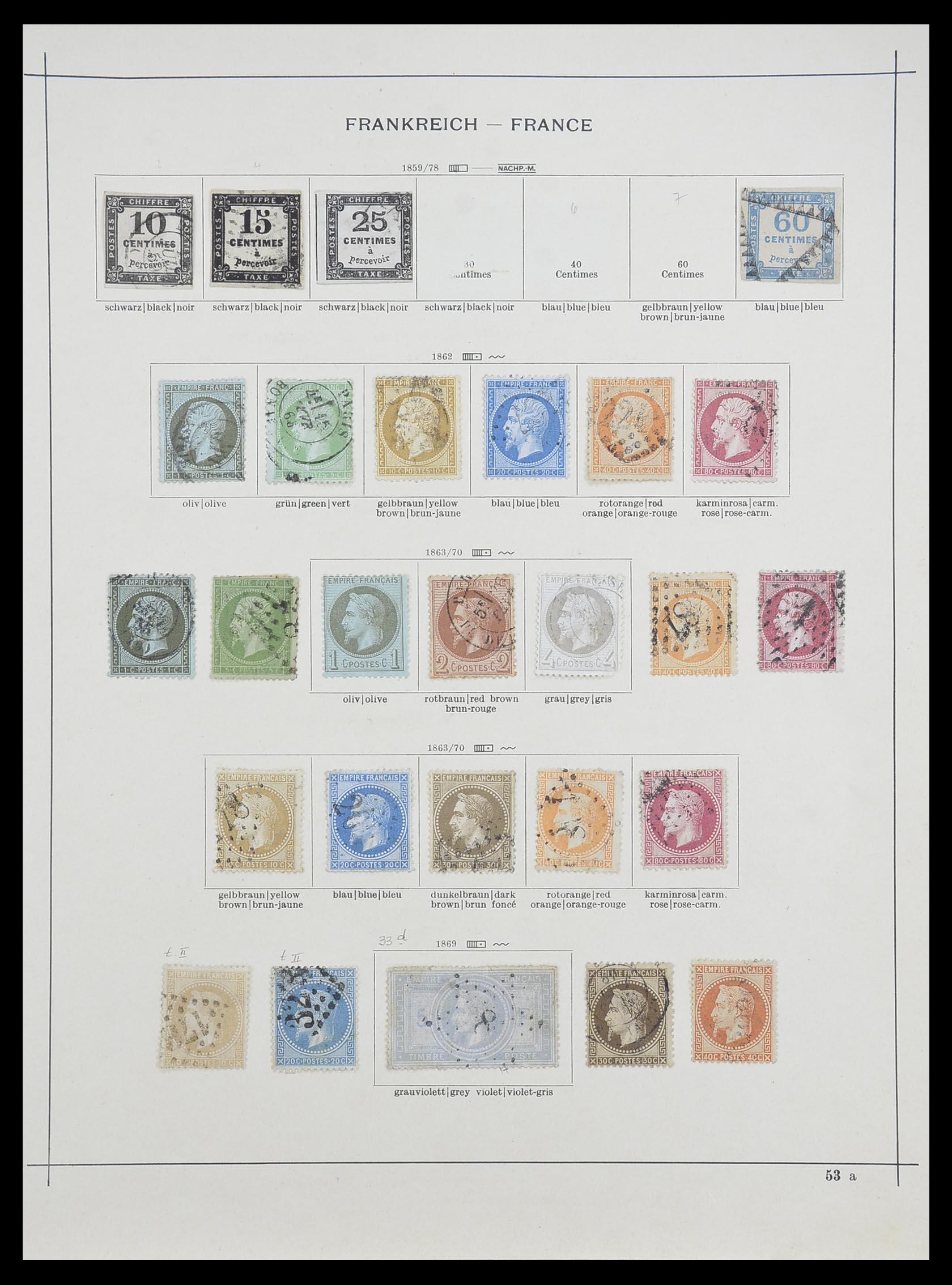 33919 002 - Postzegelverzameling 33919 Frankrijk 1849-1946.